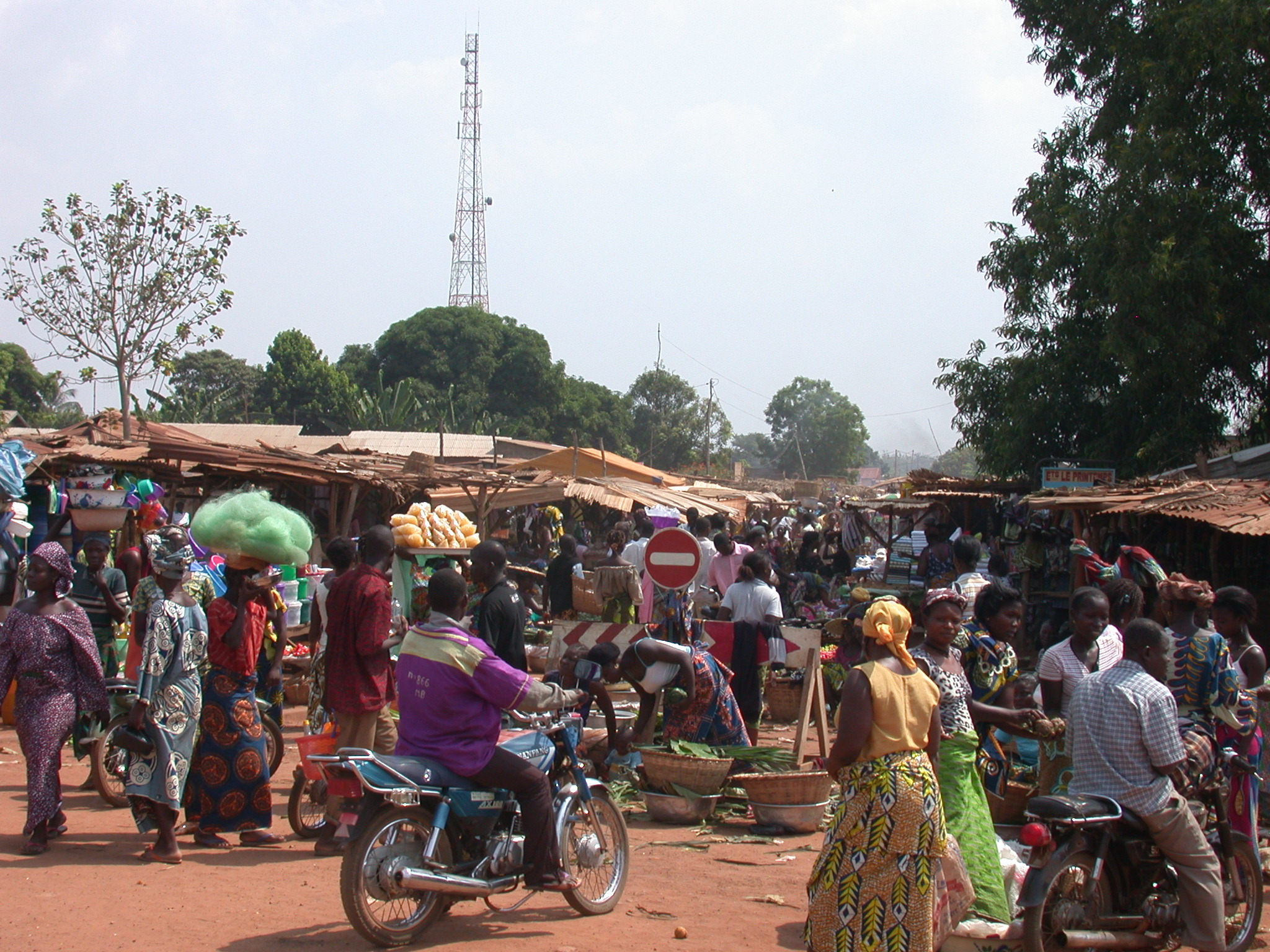 One of the Markets on Route Between Palaces, Abomey, Benin