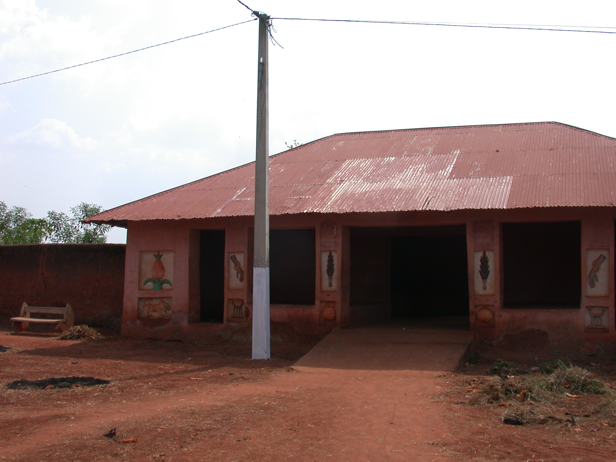 Left Side of Palace of Crown Prince Agonglo, Abomey, Benin