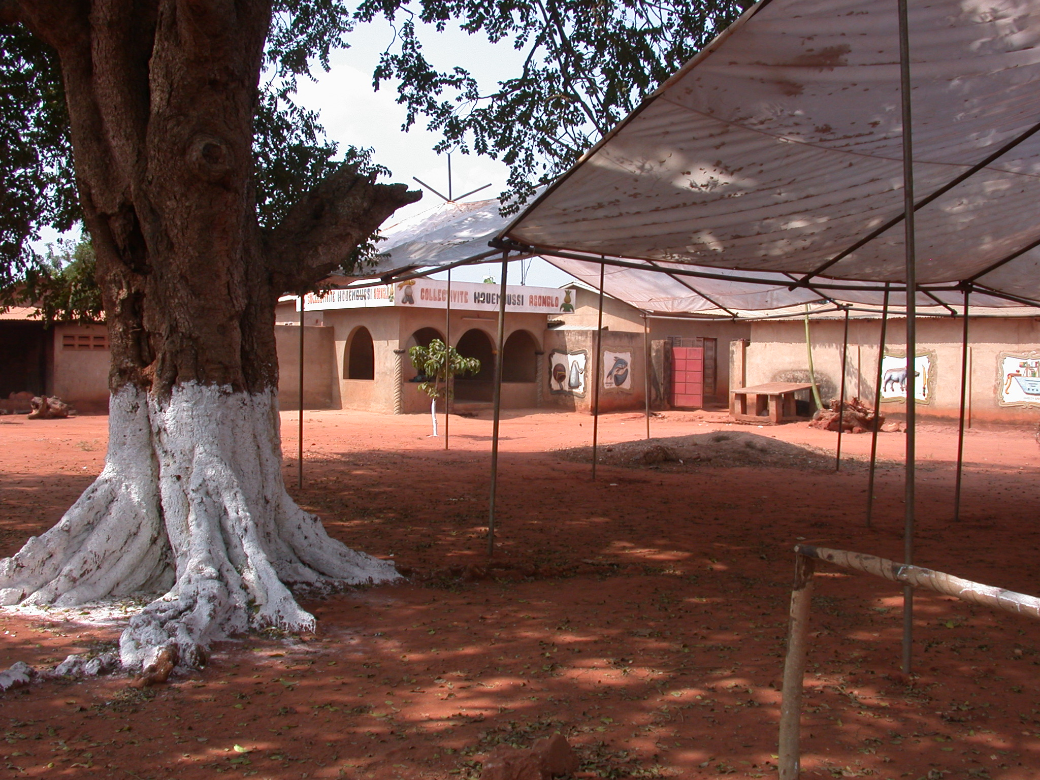 Tree and Tents, Houemou Agonglo Temple, Abomey, Benin