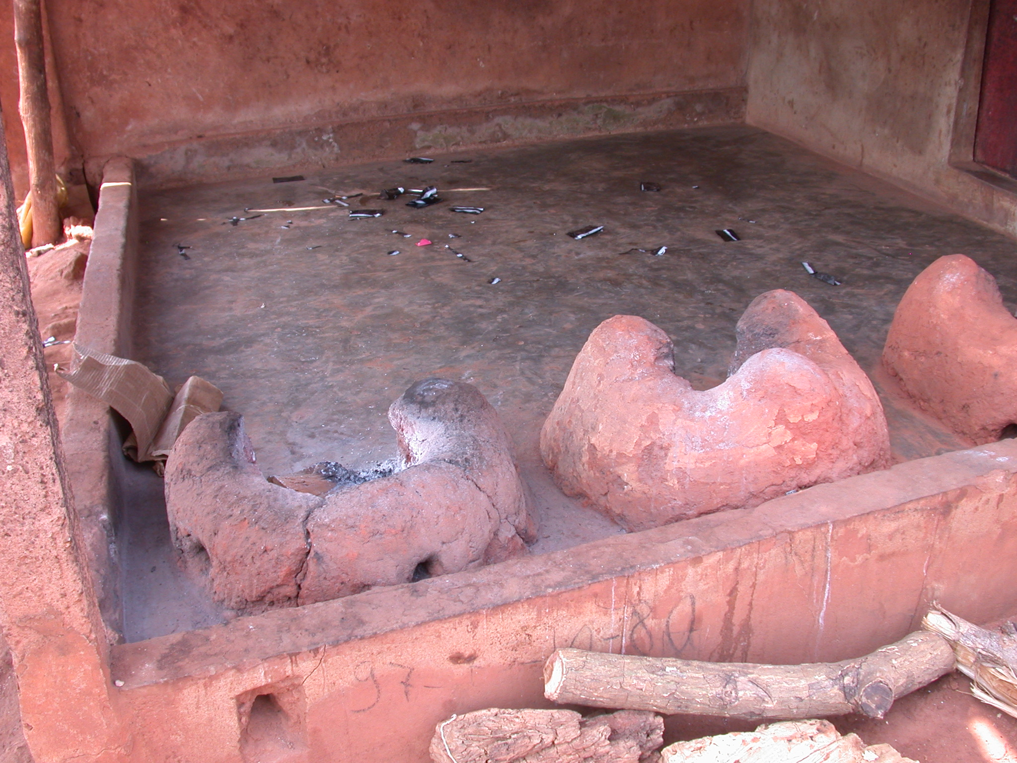 Wood-Burning Ceramic Stoves, Houemou Agonglo Temple, Abomey, Benin