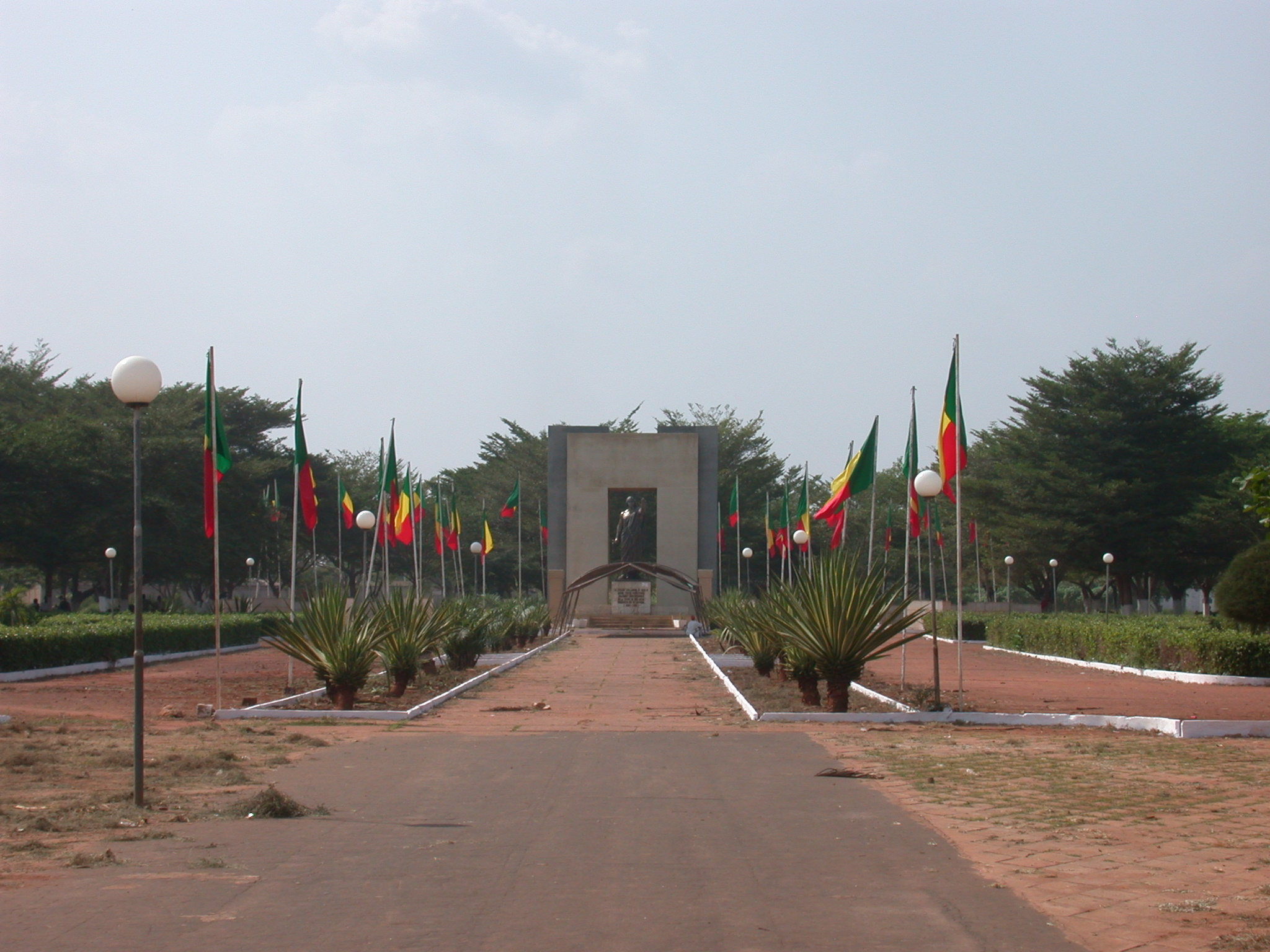 Place Goho and Statue of King Gbehanzin, Abomey, Benin