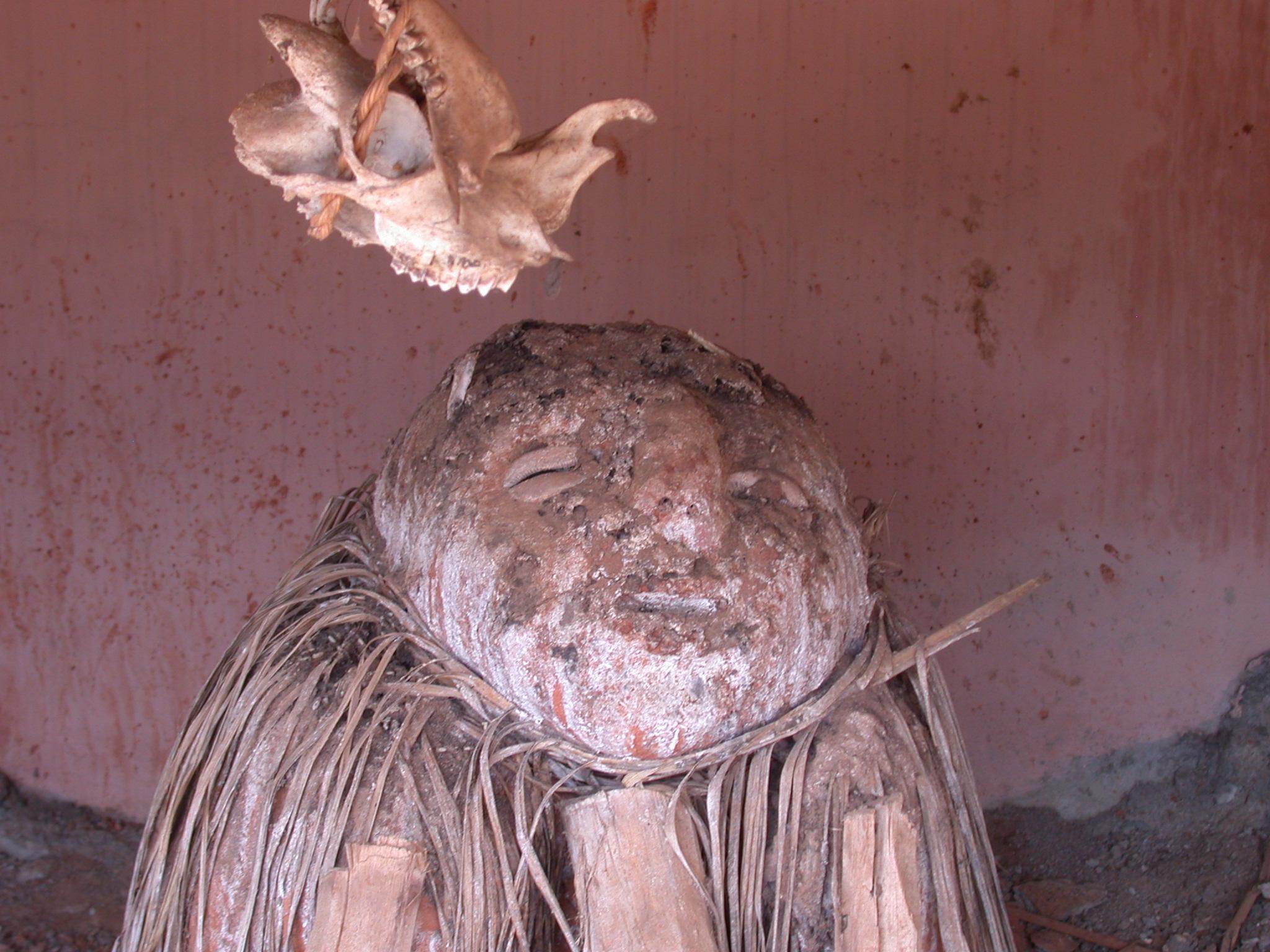 Altar at Zangbeto Kphkli-Yaou Temple, Porto Novo, Benin