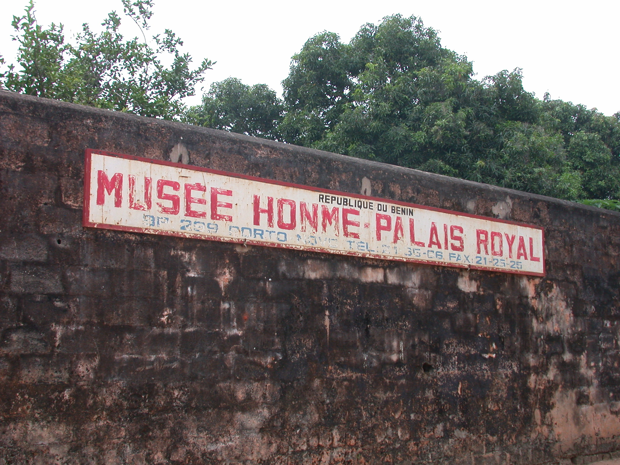 Sign for Musée Honmé, Porto Novo, Benin