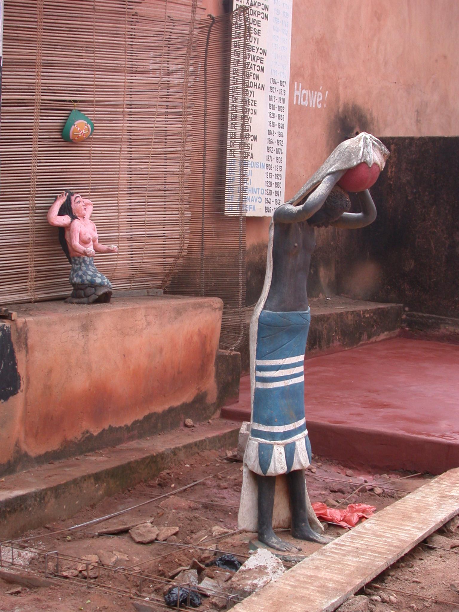 Statues at Musée Honmé, Porto Novo, Benin
