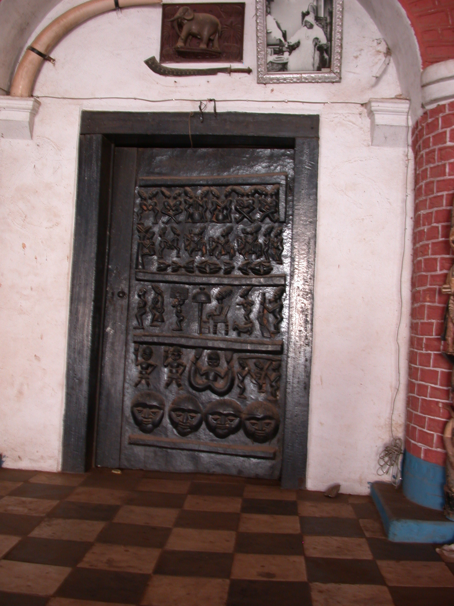 Carved Wooden Palace Door, Oba Palace, Ile-Ife, Nigeria