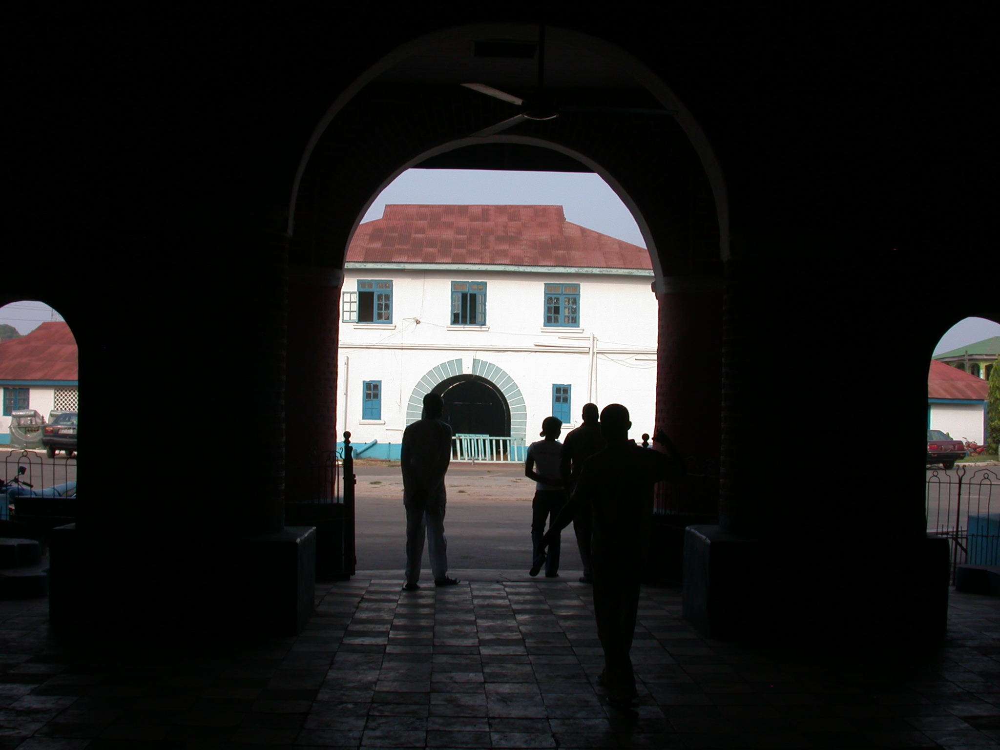 Dark Photo Looking Onto Grounds, Oba Palace, Ile-Ife, Nigeria