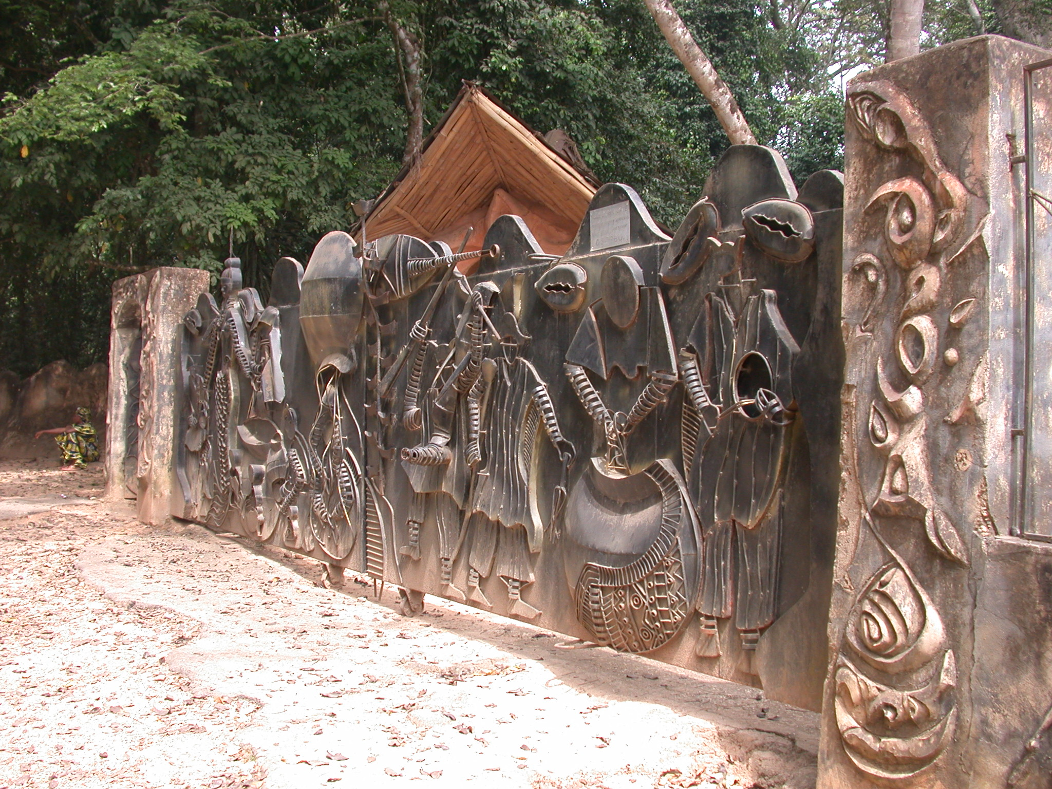 Nigeria entrance gate for osun sacred grove oshogbo