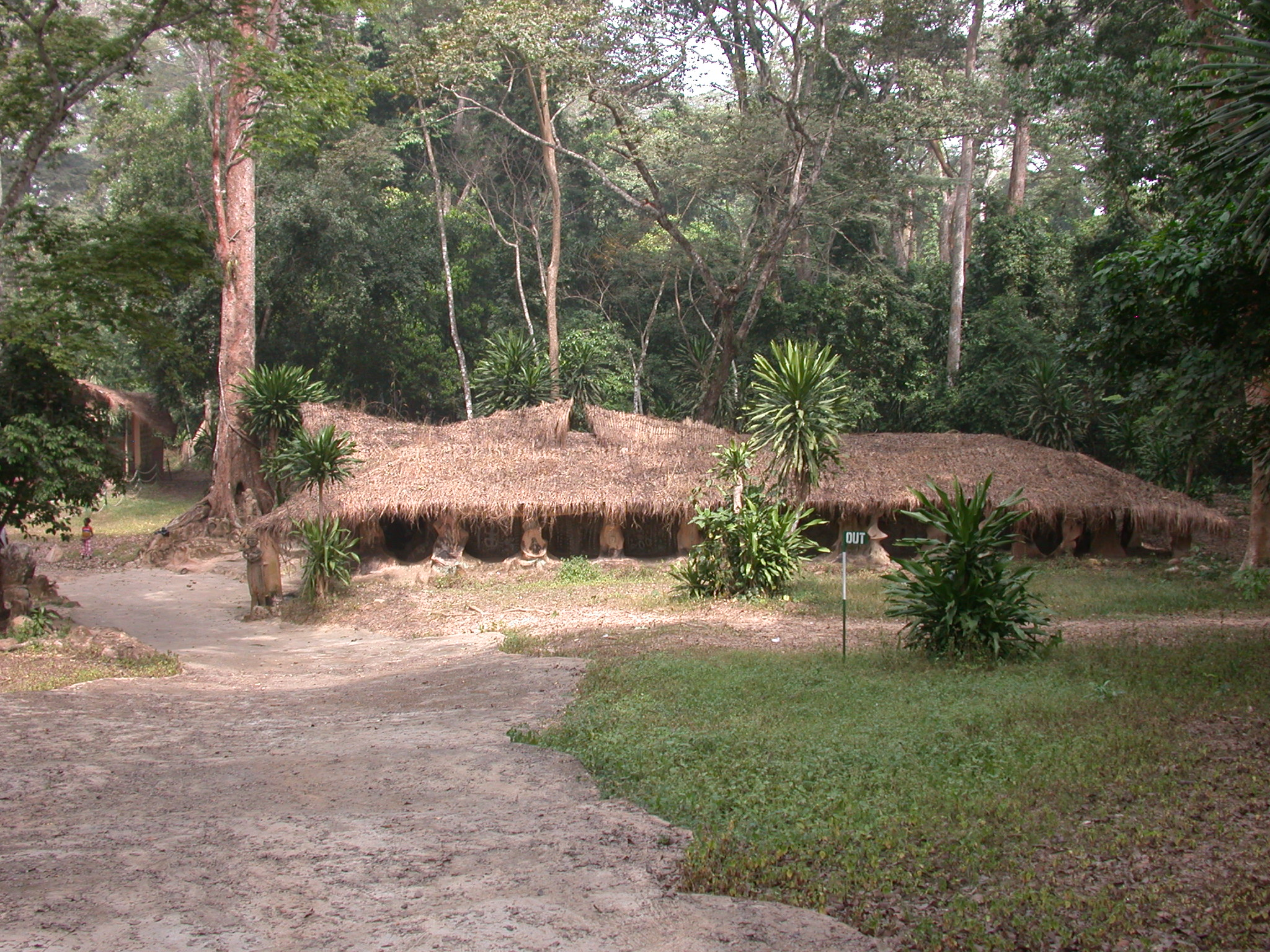 Thatched Ceremonial Home, Osun Sacred Grove, Oshogbo, Nigeria