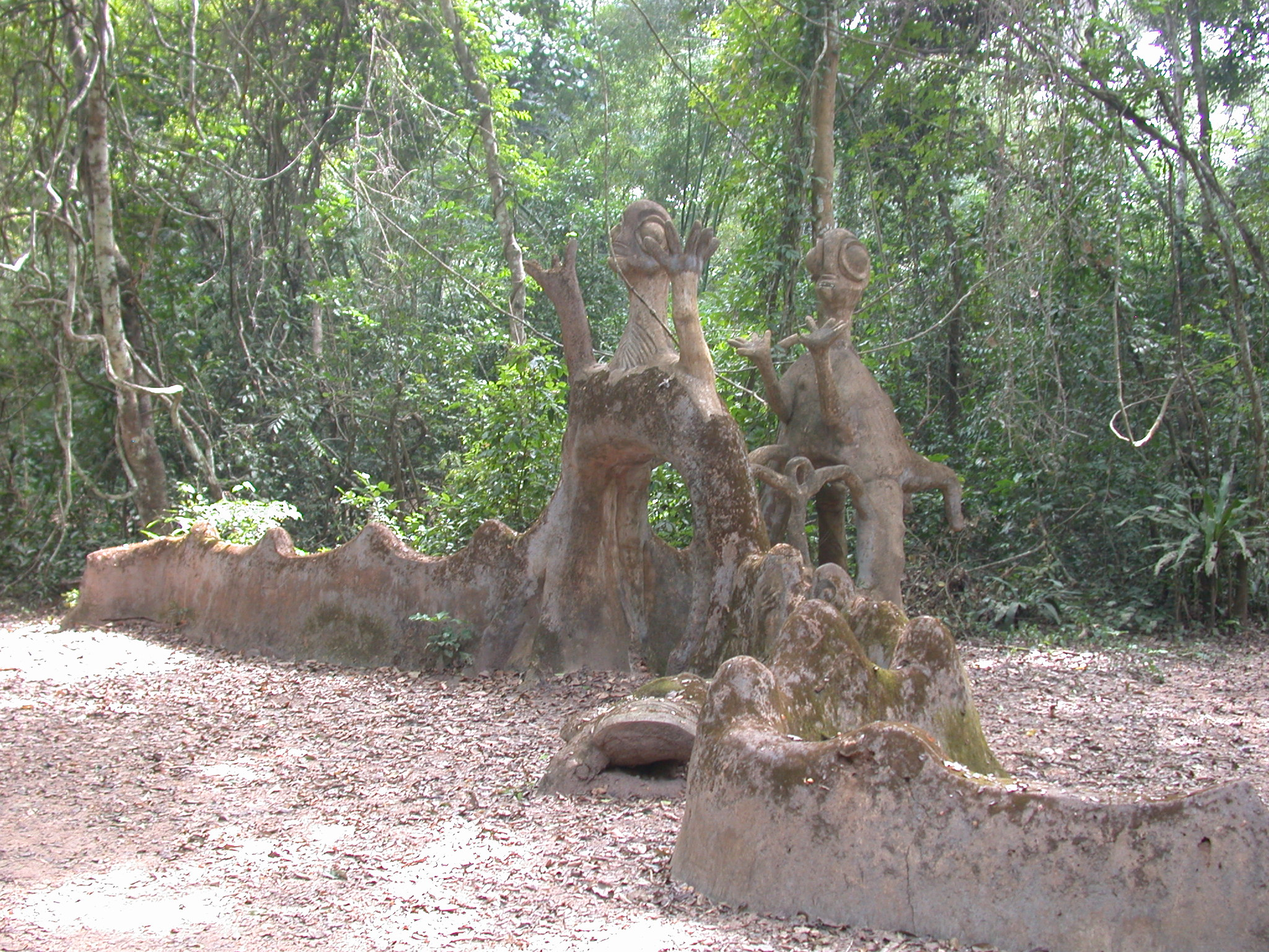Sculpture Tunnel Shrine, Osun Sacred Grove, Oshogbo, Nigeria