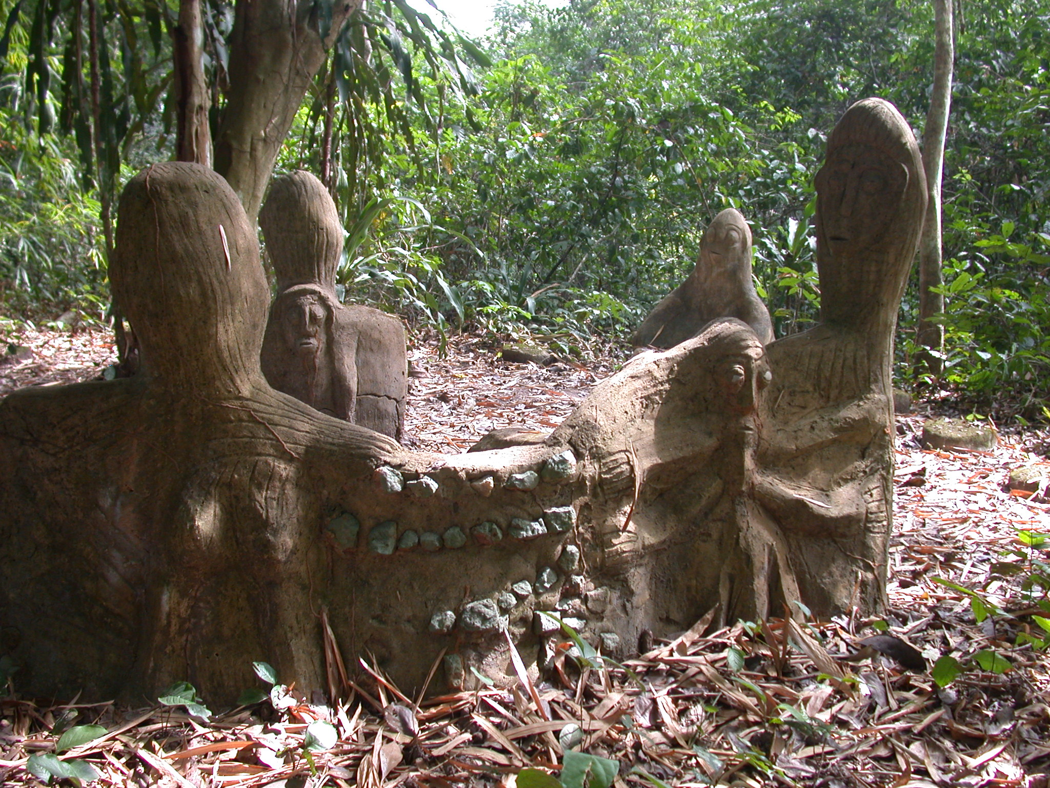 Chair Sculpture Shrine, Osun Sacred Grove, Oshogbo, Nigeria