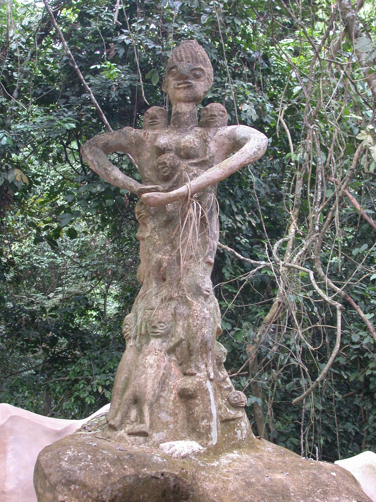 Shrine, Osun Sacred Grove, Oshogbo, Nigeria