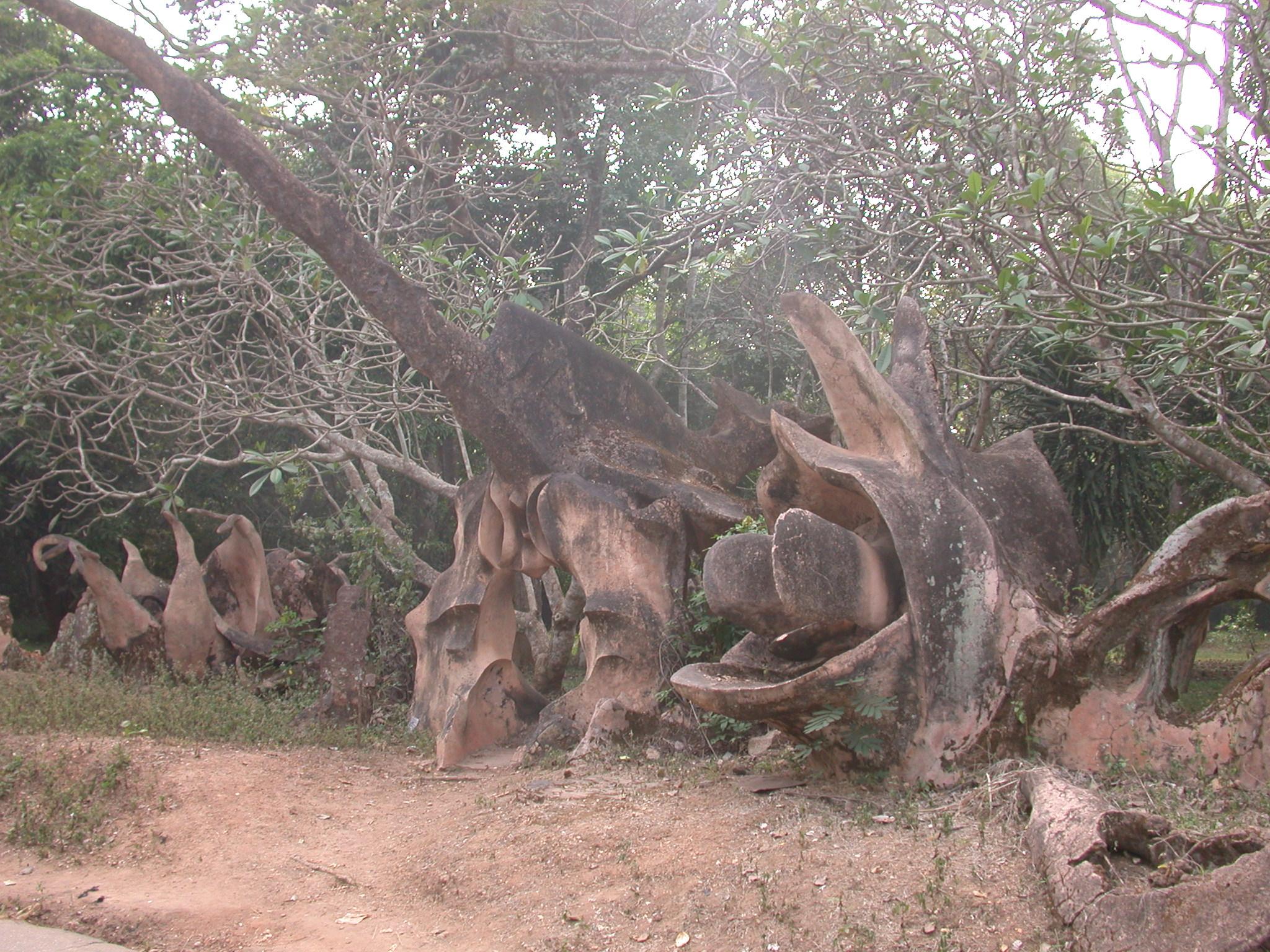 Chameleon Sculpture, Osun Sacred Grove, Oshogbo, Nigeria