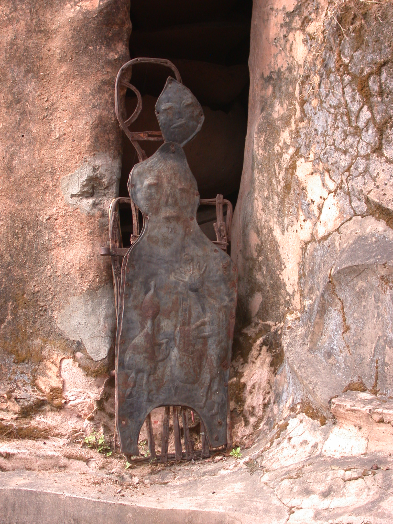 Closeup of Sculpture, Osun Sacred Grove, Oshogbo, Nigeria