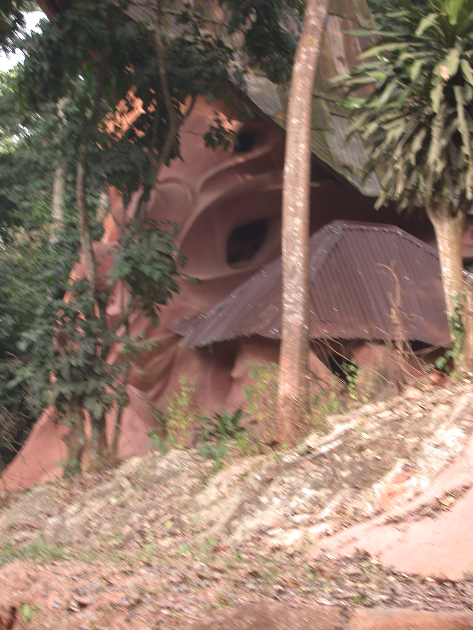Artisanal Building on Access Road, Osun Sacred Grove, Oshogbo, Nigeria