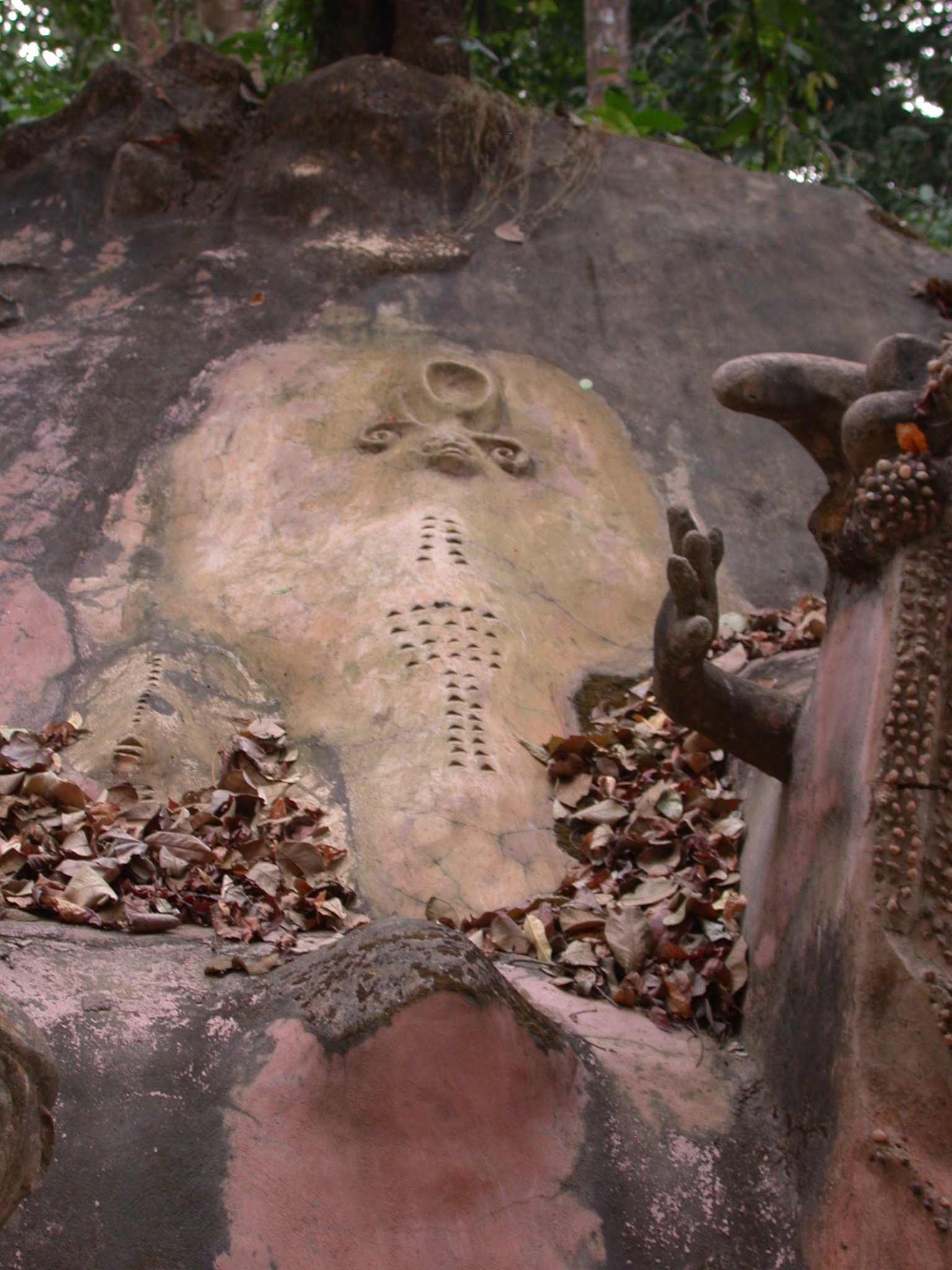 Sculpture Shrine on Access Road, Osun Sacred Grove, Oshogbo, Nigeria