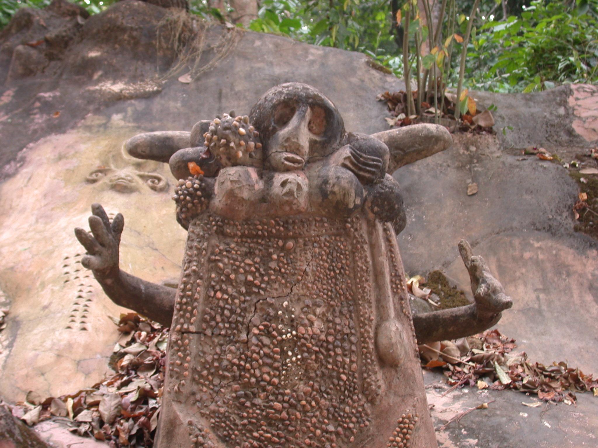 Sculpted Wall, Osun Sacred Grove, Oshogbo, Nigeria