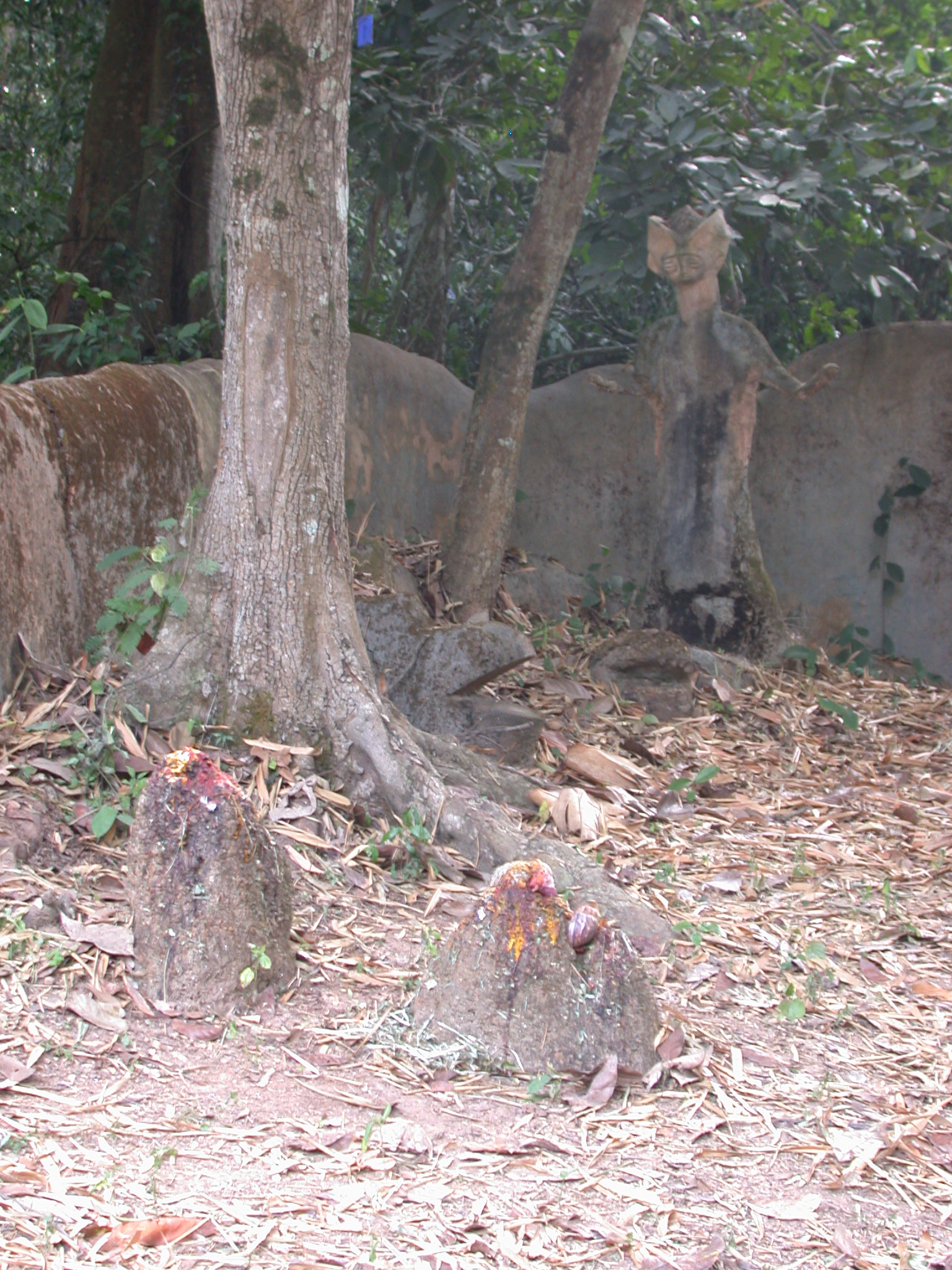 Sculpture Shrines on Access Road, Osun Sacred Grove, Oshogbo, Nigeria