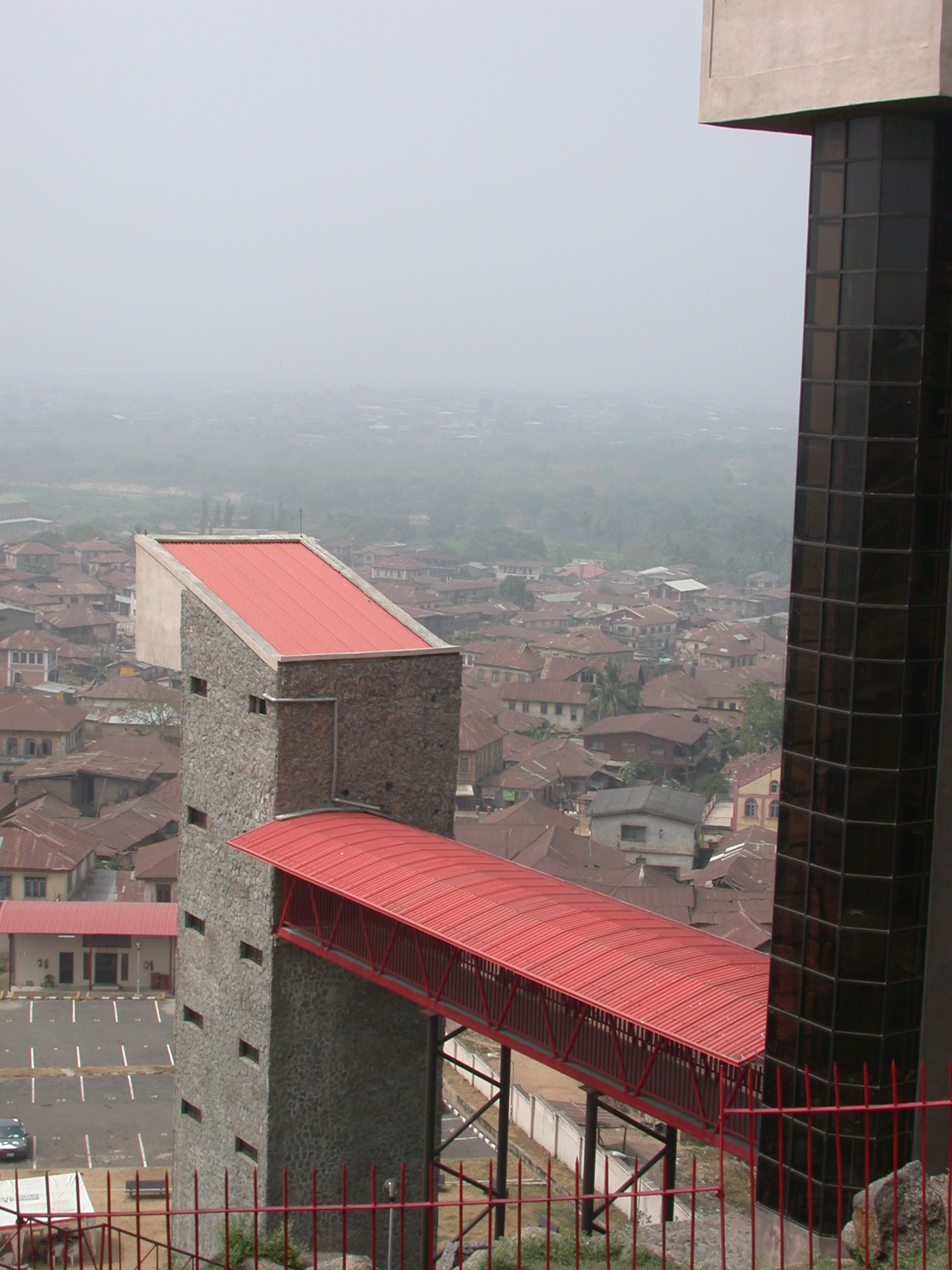 View Over Elevator Shaft, Olumo Rock, Abeokuta, Nigeria