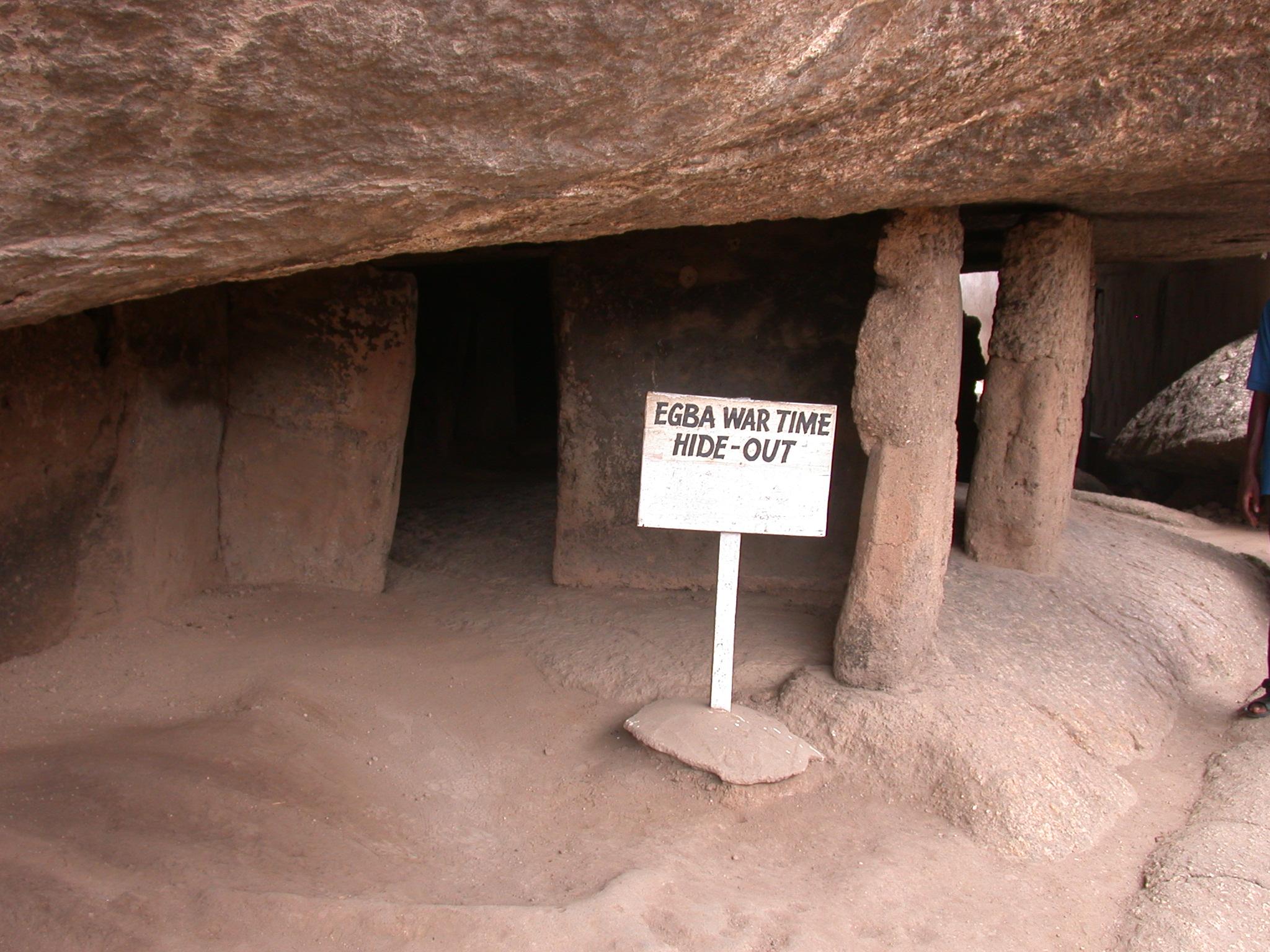 Egba Wartime Hideout, Olumo Rock, Abeokuta, Nigeria