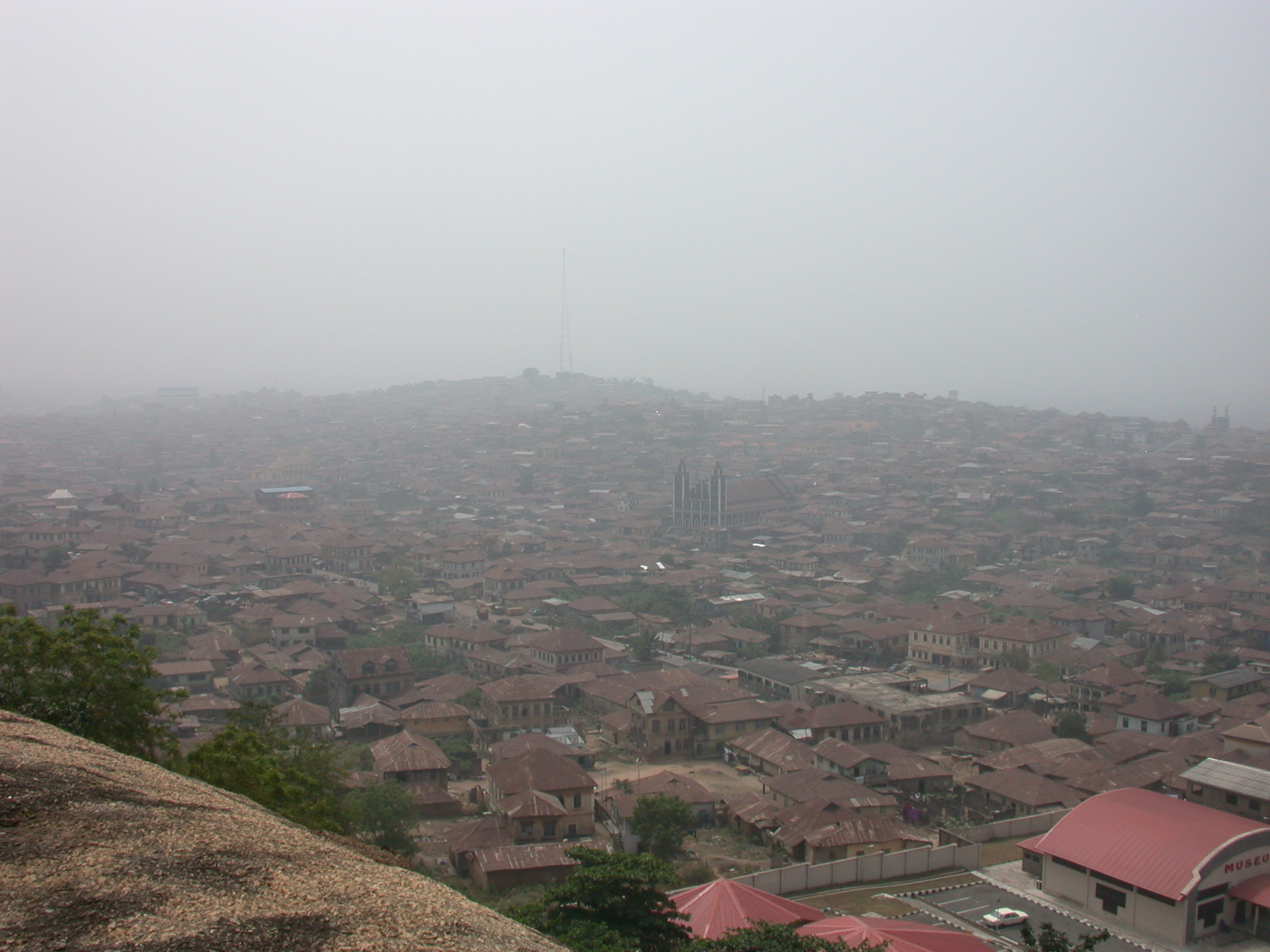 View of City, Olumo Rock, Abeokuta, Nigeria