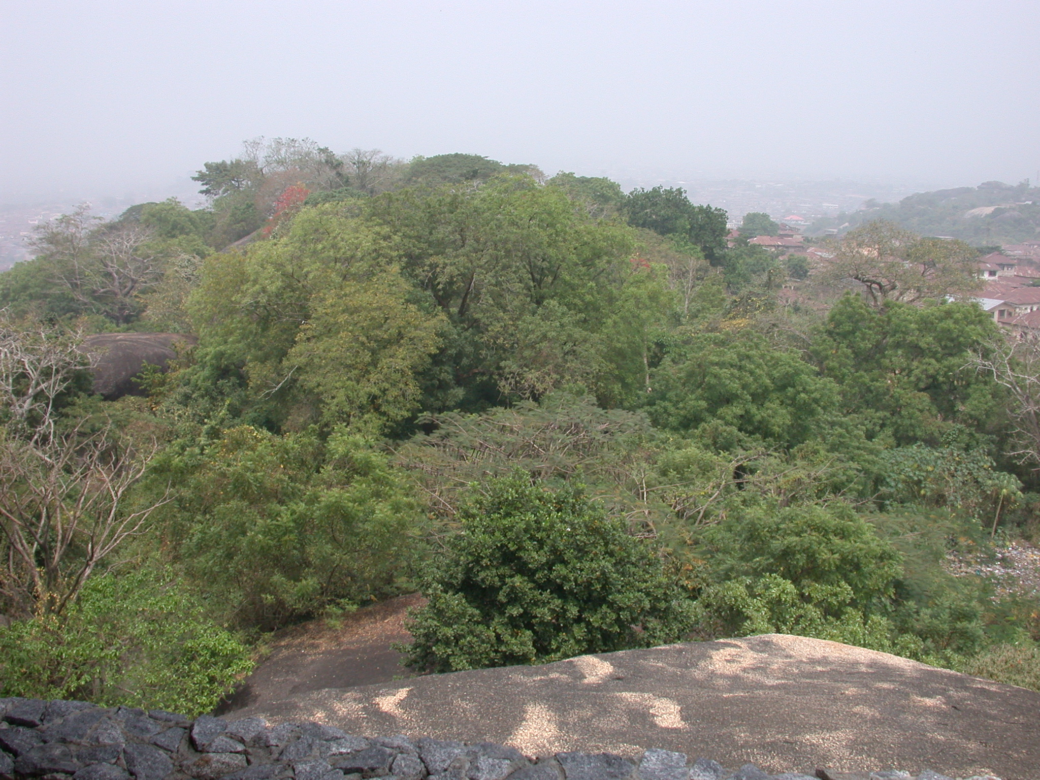 View of Summit, Olumo Rock, Abeokuta, Nigeria