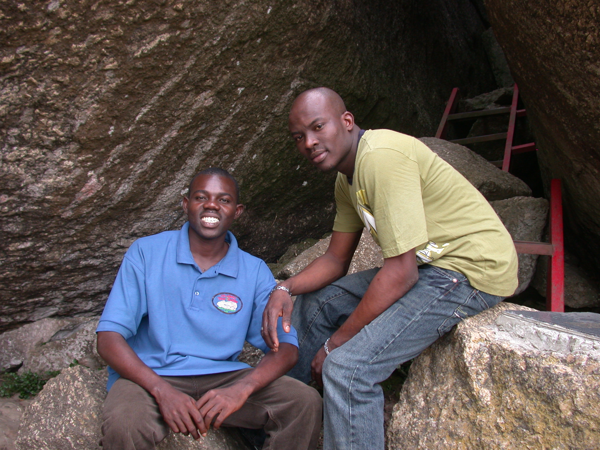 Guide Named Praise Ademola Oladepupo and Guide and Manager From Hotel in Town, Olumo Rock, Abeokuta, Nigeria