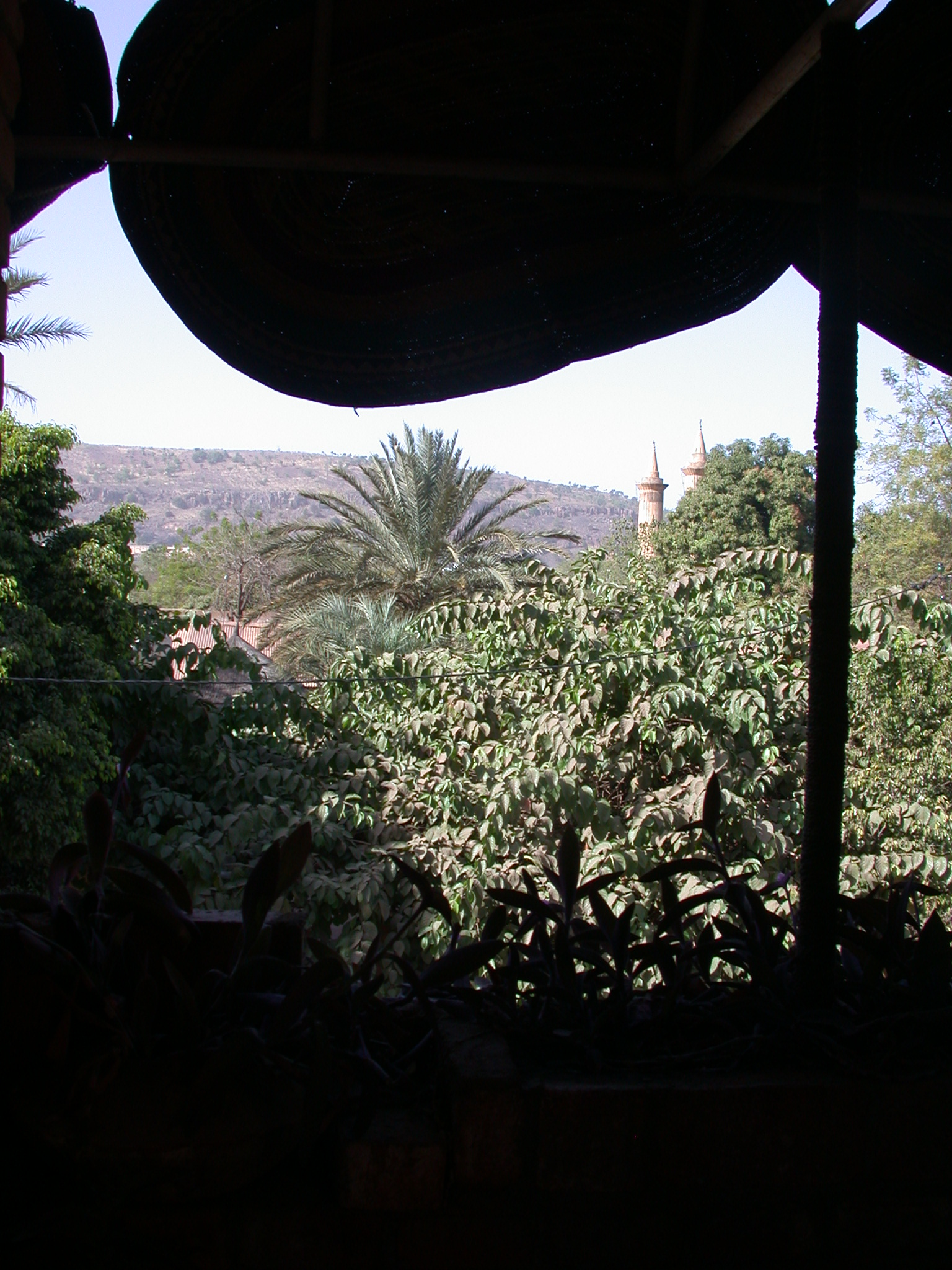 View From Balcony Outside My Room, Hotel Djenne, Bamako, Mali