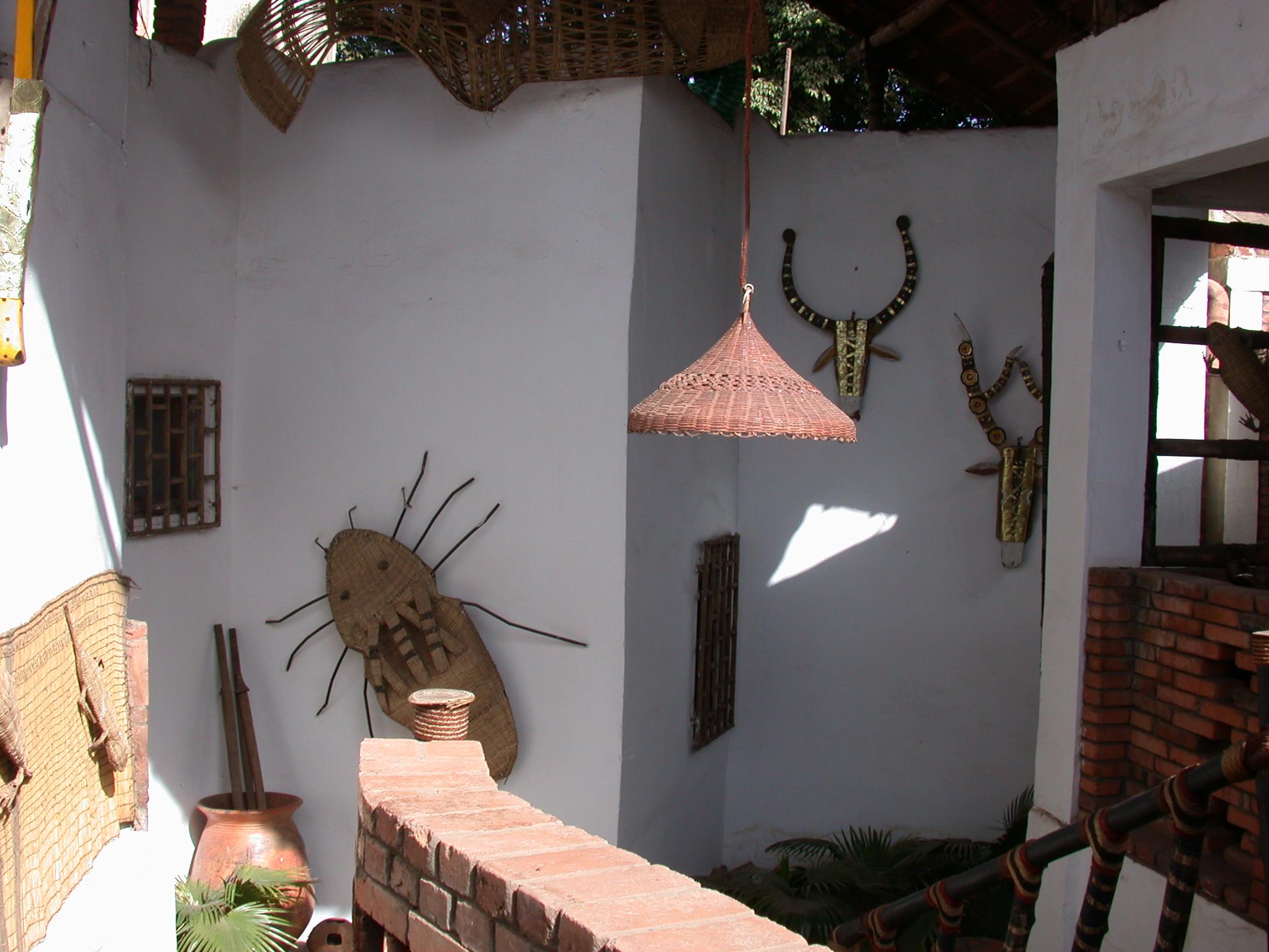 Stairwell Art, Hotel Djenne, Bamako, Mali