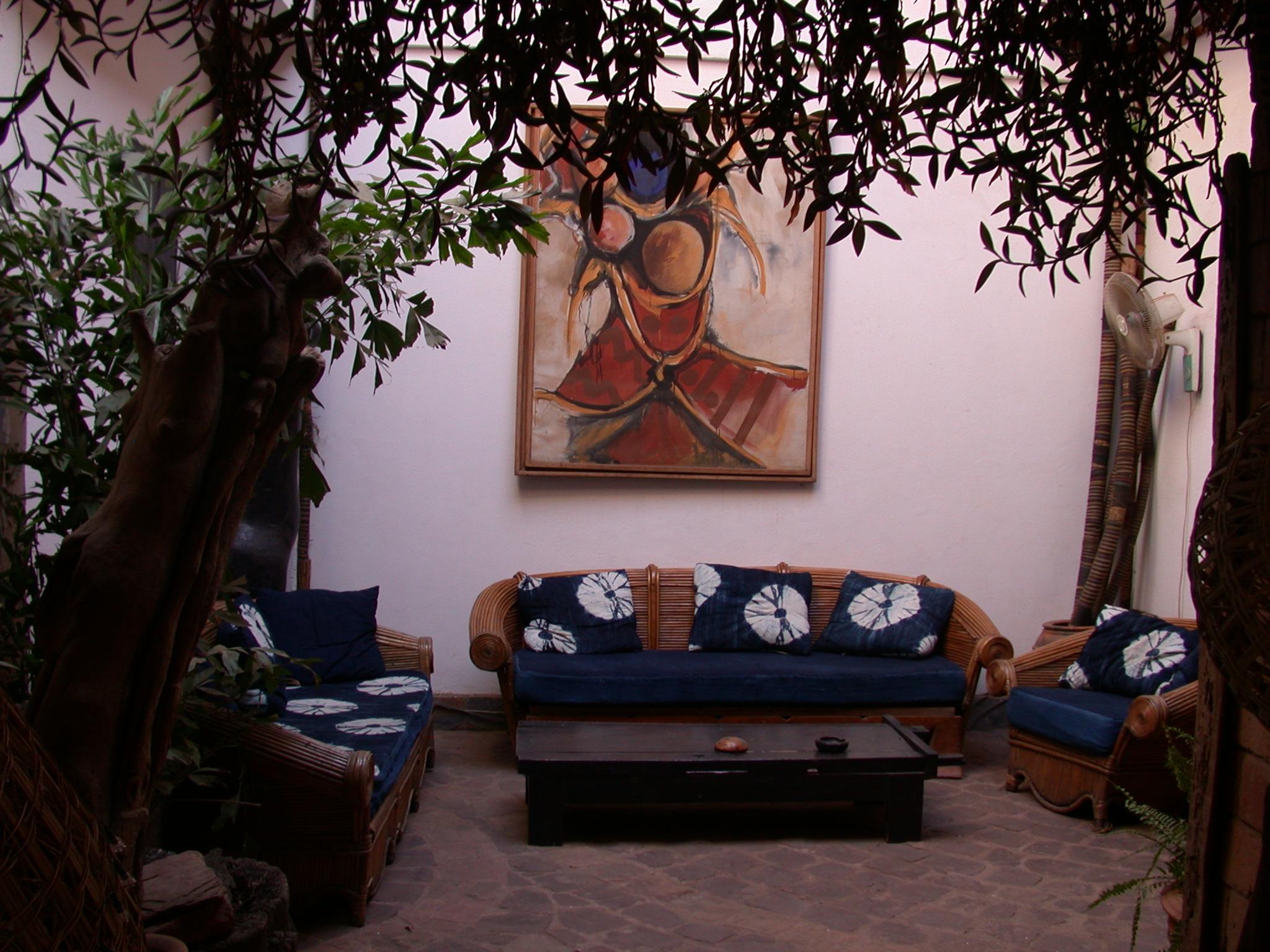 Rear Salon, Hotel Djenne, Bamako, Mali