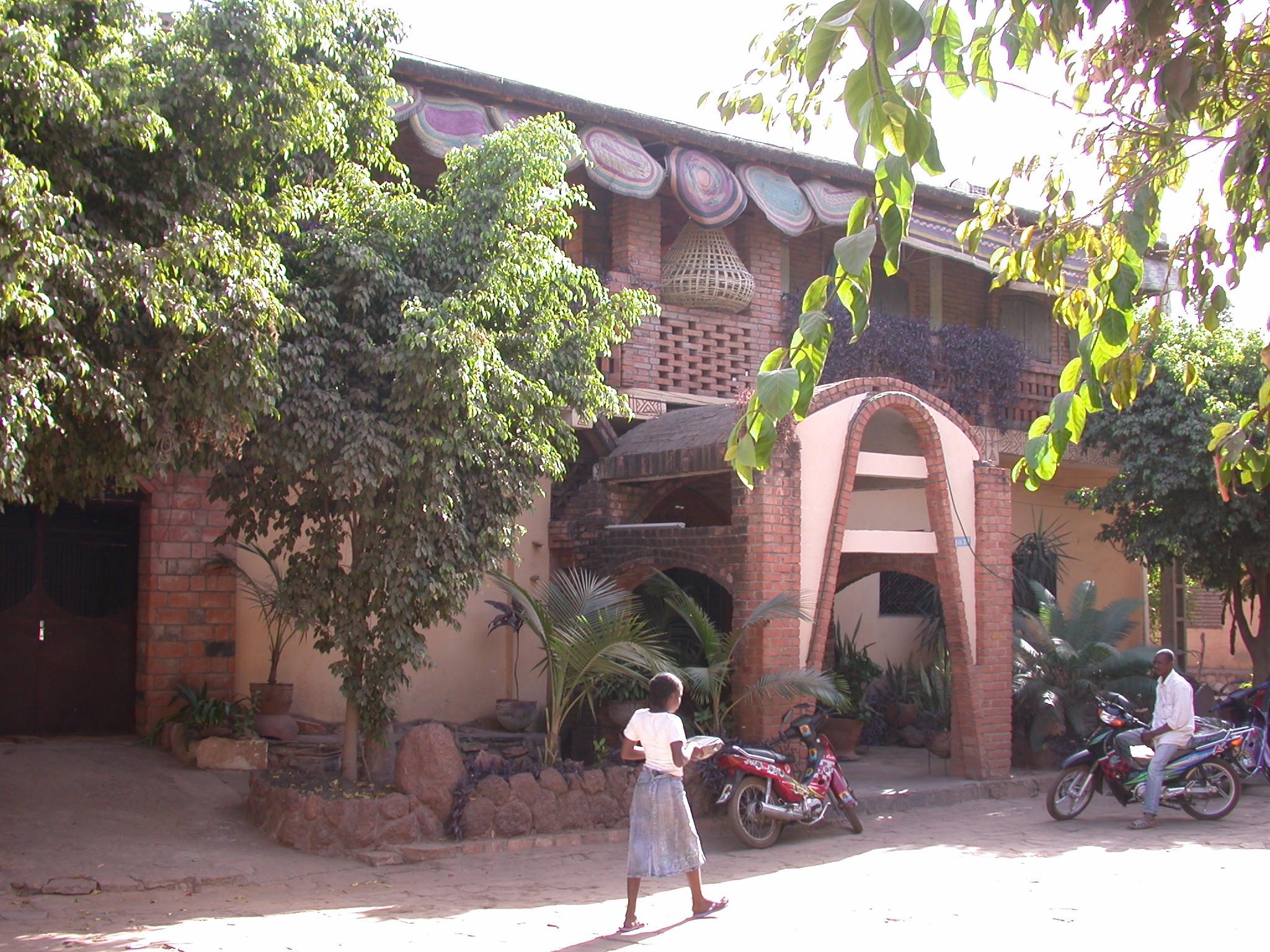 Front Entrance, Hotel Djenne, Bamako, Mali