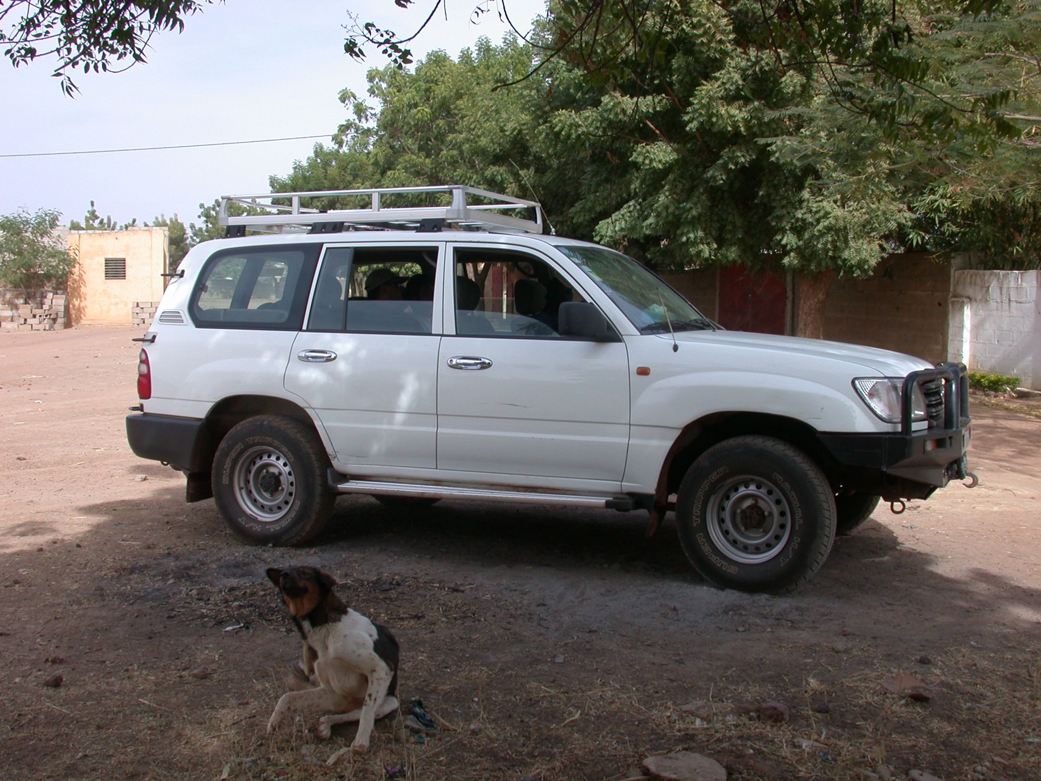 Four-By-Four Vehicle on Route From Bamako to Timbuktu, Mali