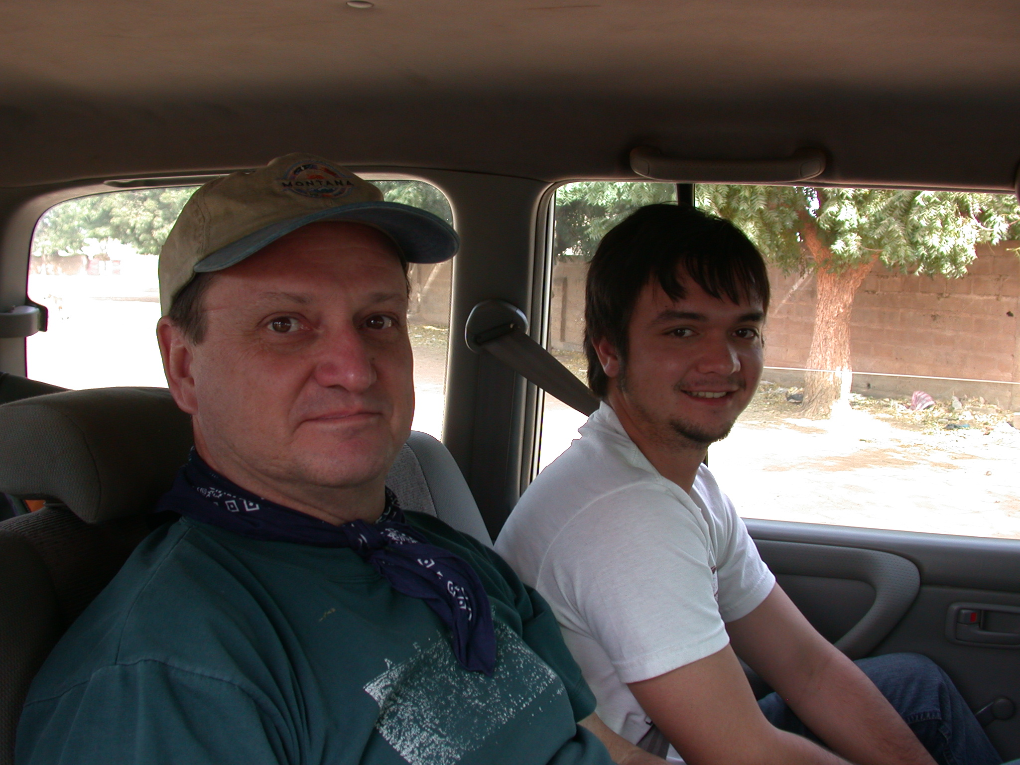 Kevin and His Son Larsen, Route From Bamako to Timbuktu, Mali
