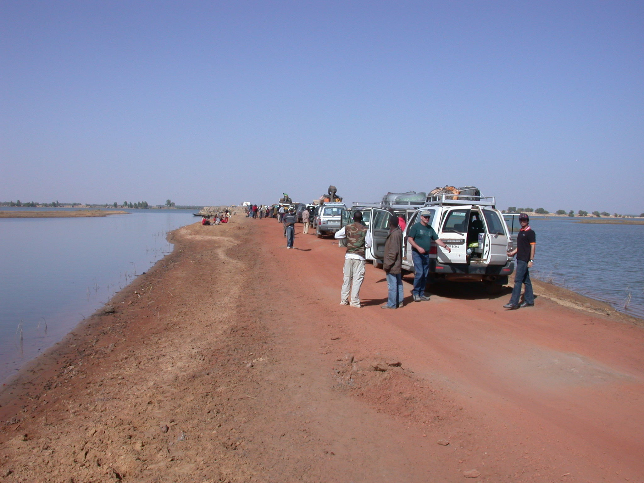 Queue for Ferry Boats to Timbuktu, Mali