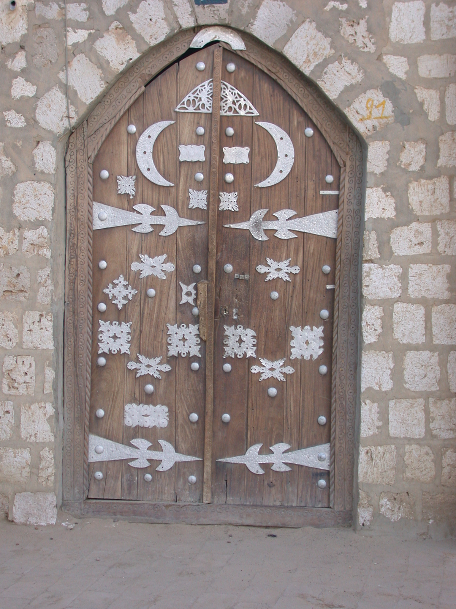 Ornamented Wooden Door, Sidi Yahia Mosque, Timbuktu, Mali