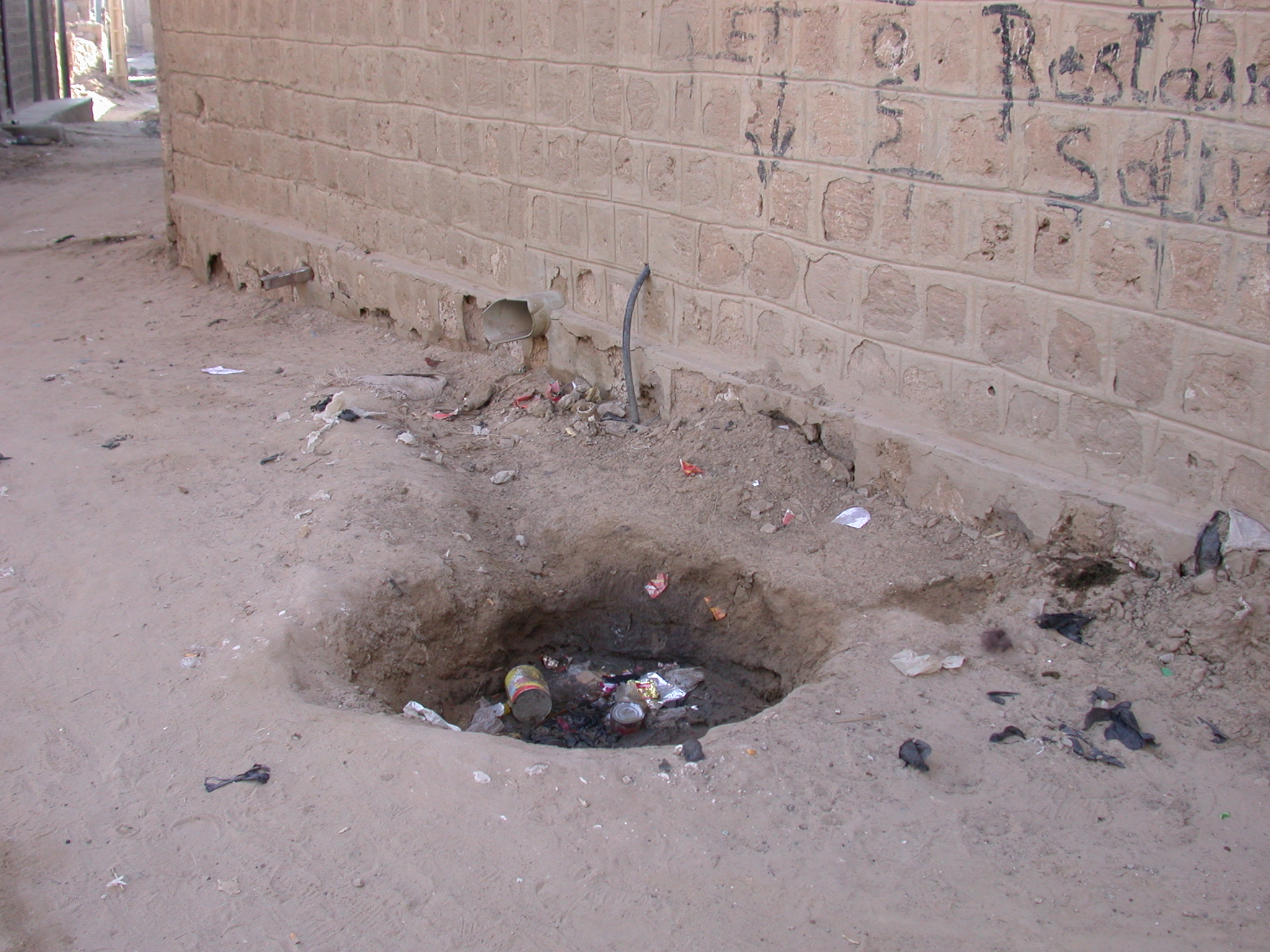 Open Sewer in Dirt Road, Timbuktu, Mali