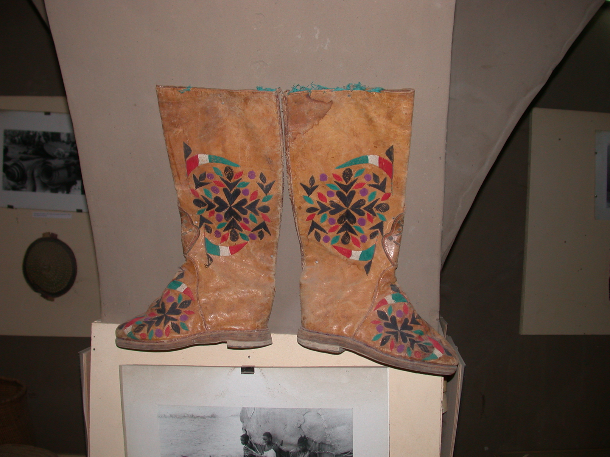 Decorated Boots, Timbuktu Ethnological Museum, Timbuktu, Mali