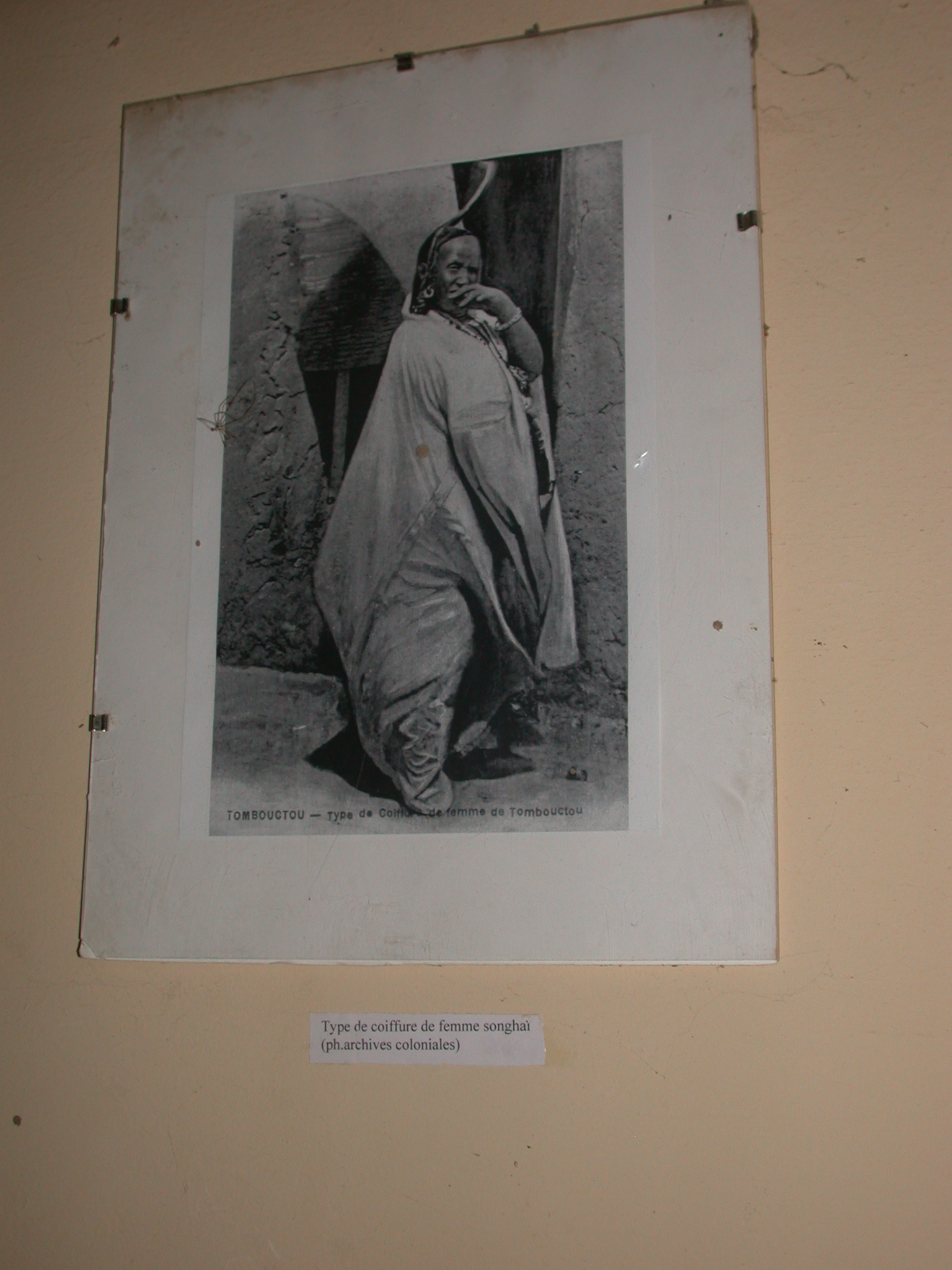 Photo of Hairstyle of Songhay Woman, Timbuktu Ethnological Museum, Timbuktu, Mali