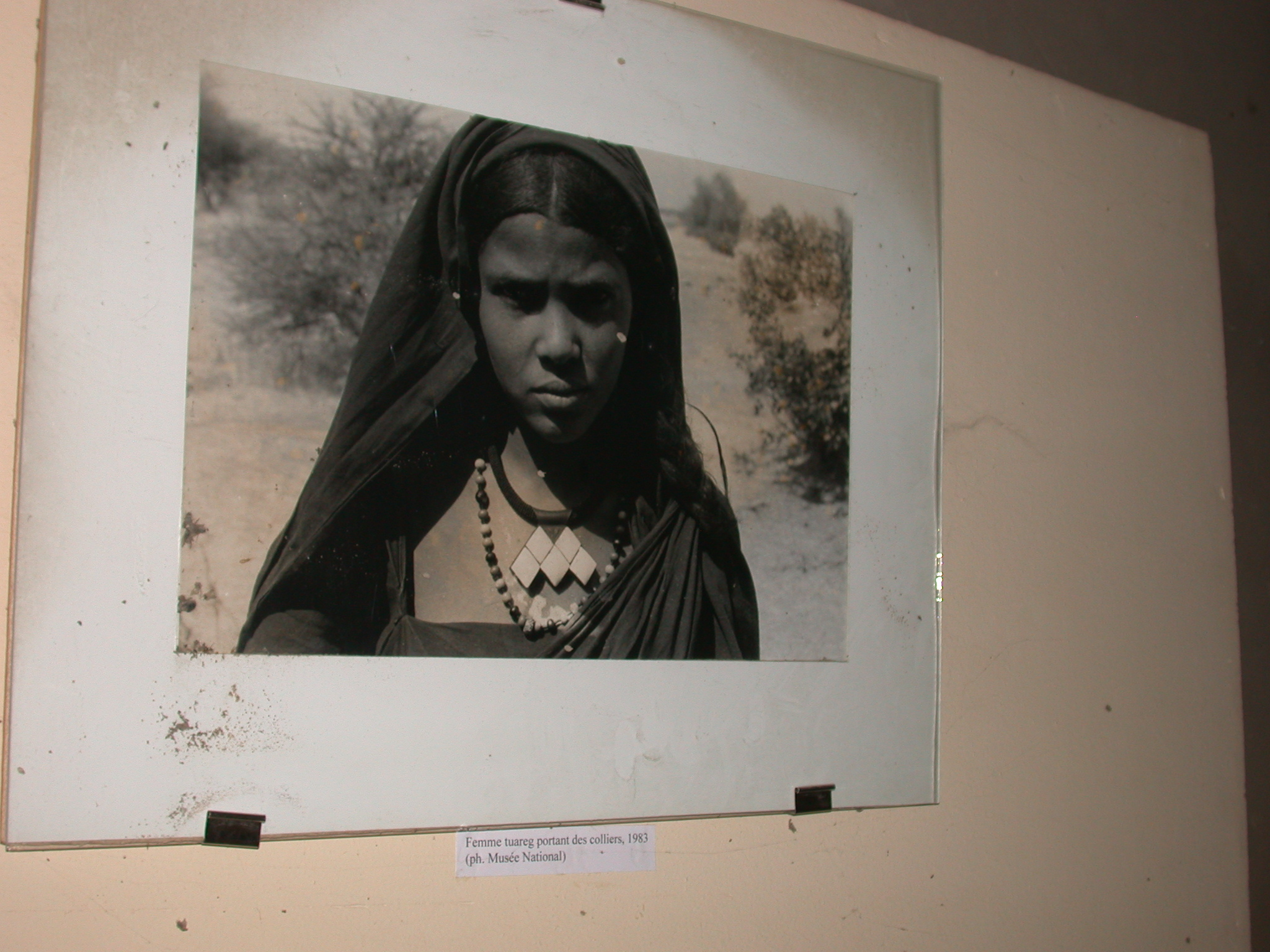 Photo of Tuareg Woman Wearing Necklaces in 1983, Timbuktu Ethnological Museum, Timbuktu, Mali
