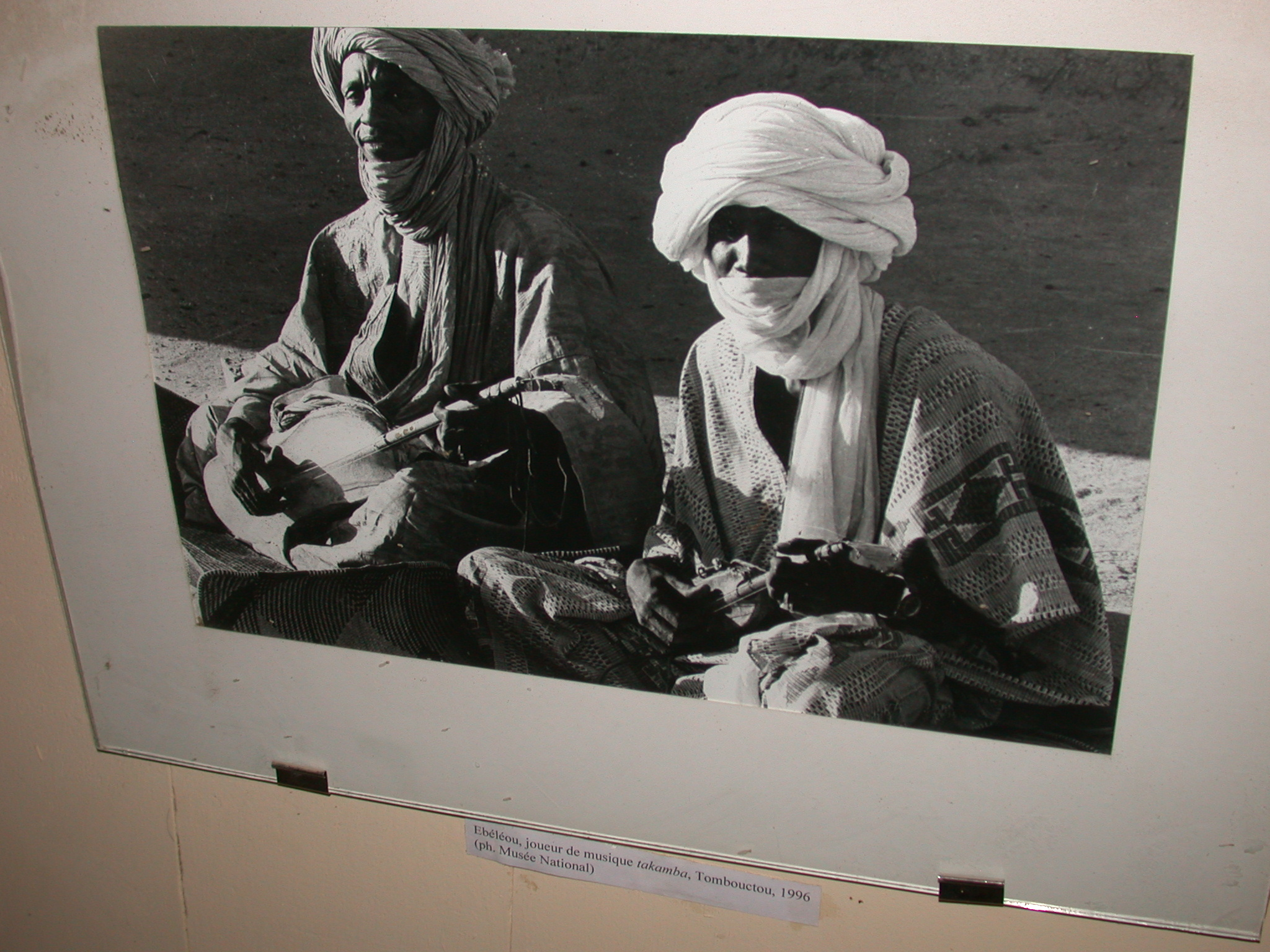 Photo of Ebéléou, Player of Takamba Music, Timbuktu, 1996, Timbuktu Ethnological Museum, Timbuktu, Mali