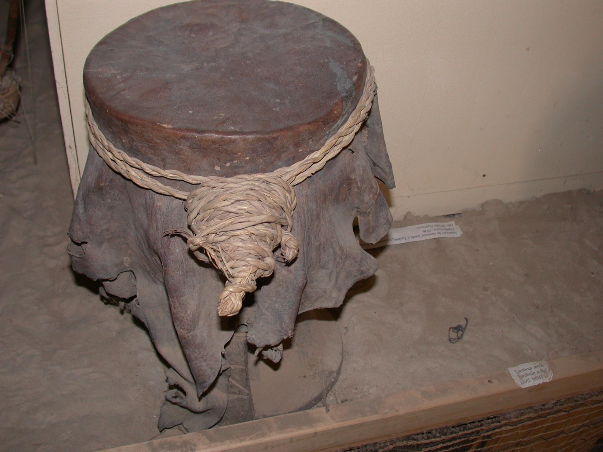 Tende Drum, Timbuktu Ethnological Museum, Timbuktu, Mali