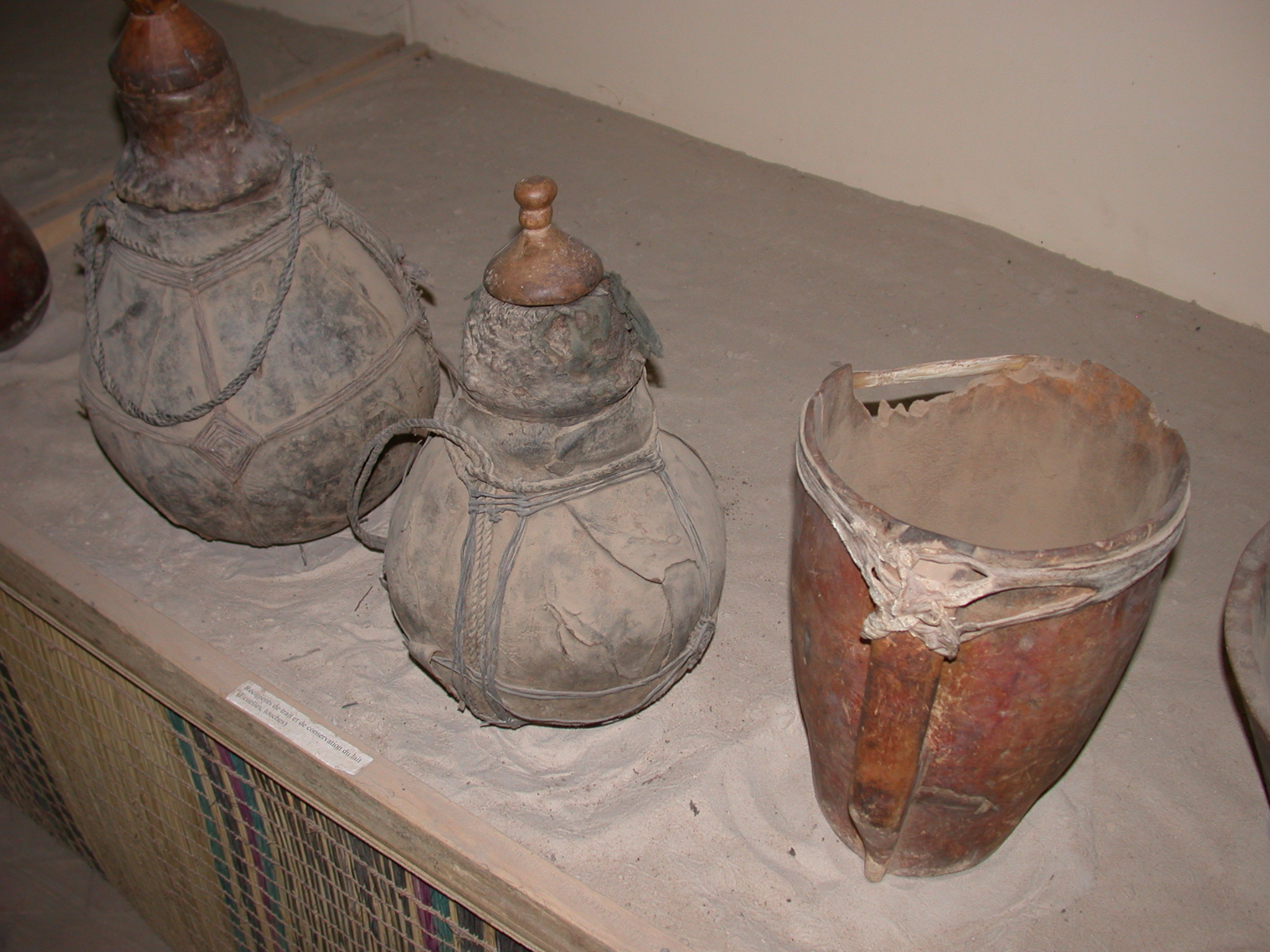 Containers for Milking and Storage of Milk, Bowls, Ladles, Timbuktu Ethnological Museum, Timbuktu, Mali