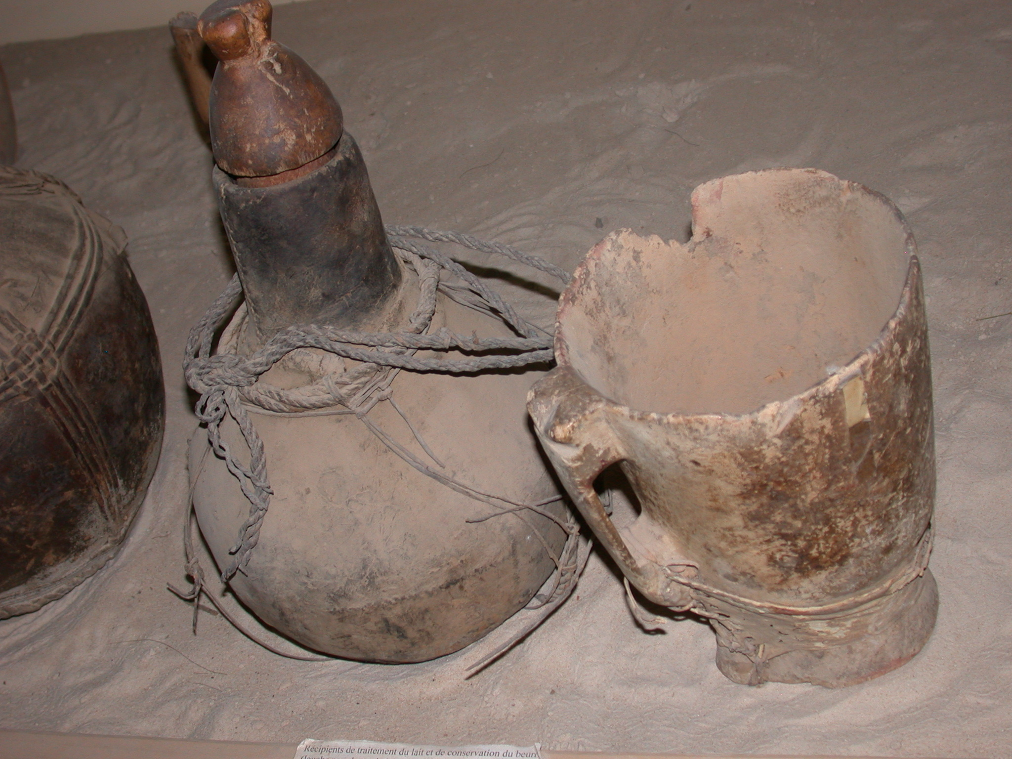 Containers for Milking and Storage of Butter, Gourd, Timbuktu Ethnological Museum, Timbuktu, Mali