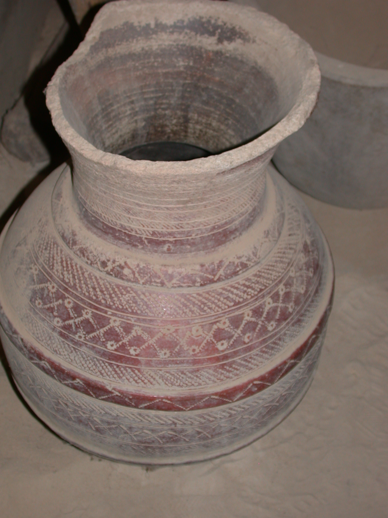 Decorated Ceramic Vase, Timbuktu Ethnological Museum, Timbuktu, Mali