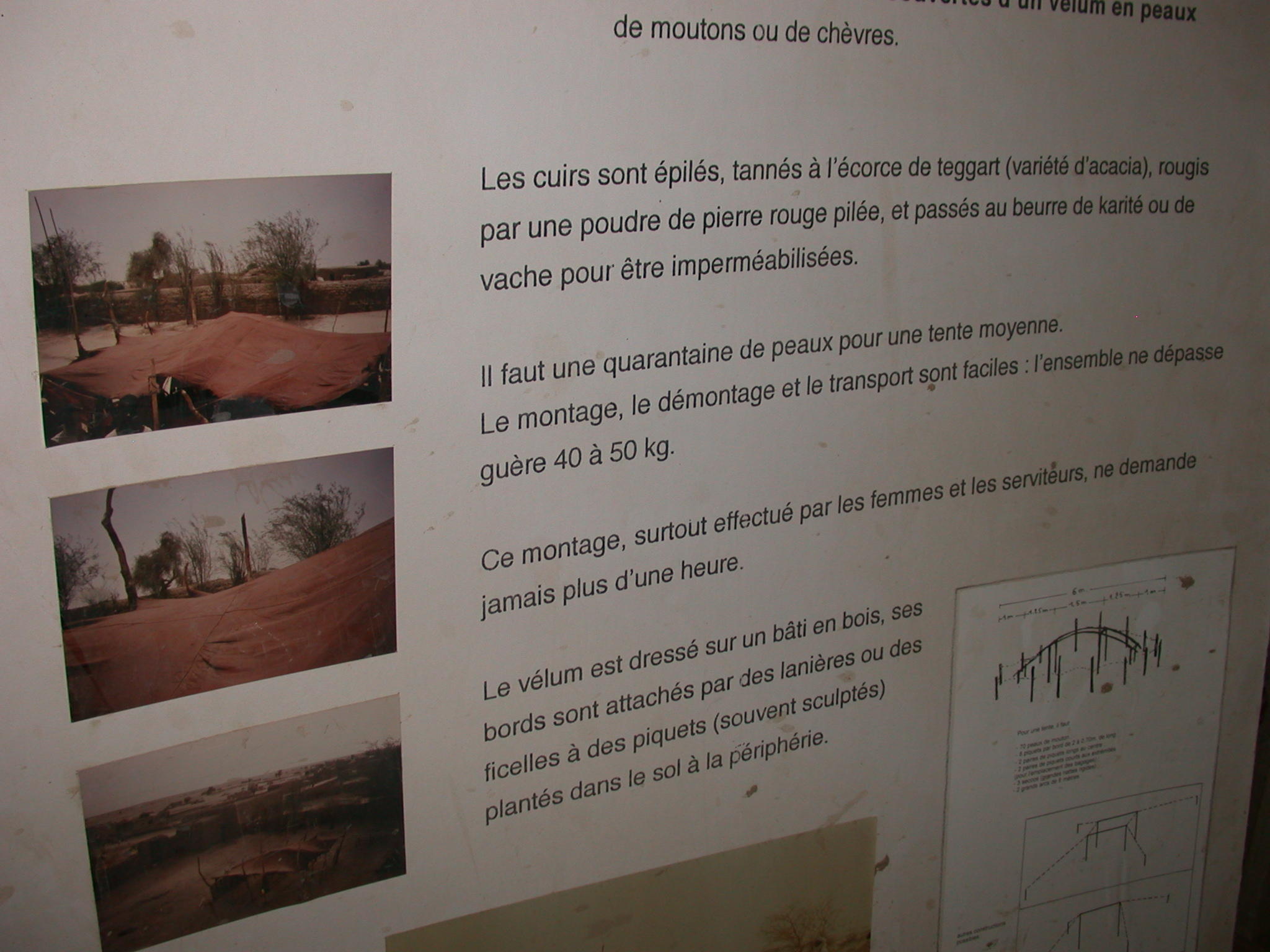 Description of Tuareg Tents, Part II, Timbuktu Ethnological Museum, Timbuktu, Mali