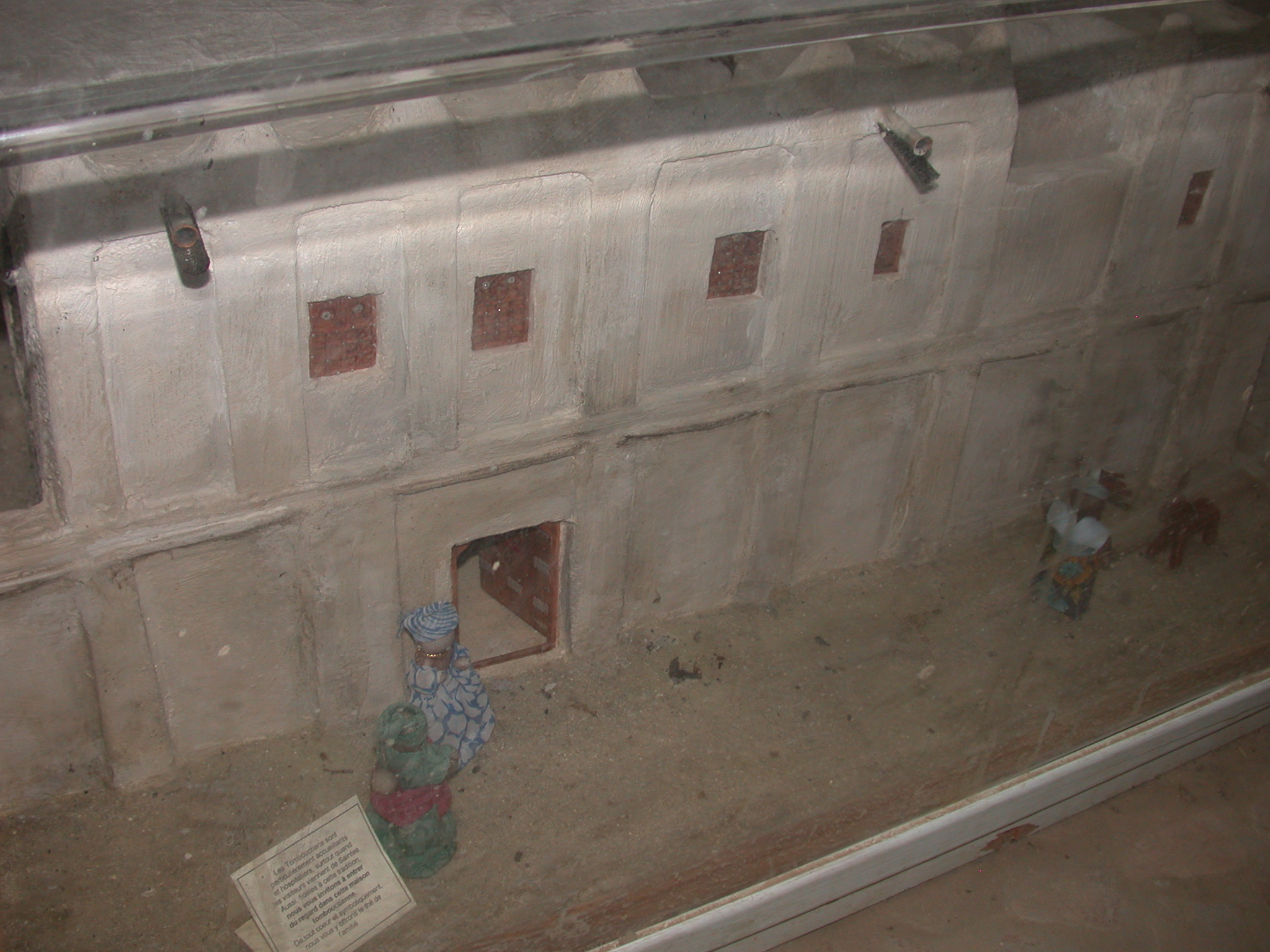 Model of a Timbuktu House, Part II, Timbuktu Ethnological Museum, Timbuktu, Mali