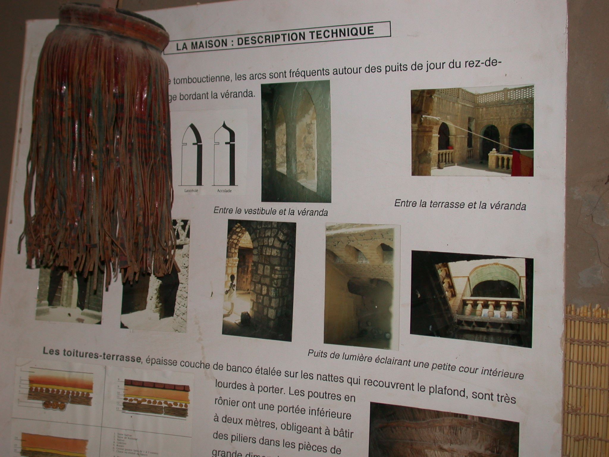 Technical Description of Timbuktu House, Part I, Timbuktu Ethnological Museum, Timbuktu, Mali