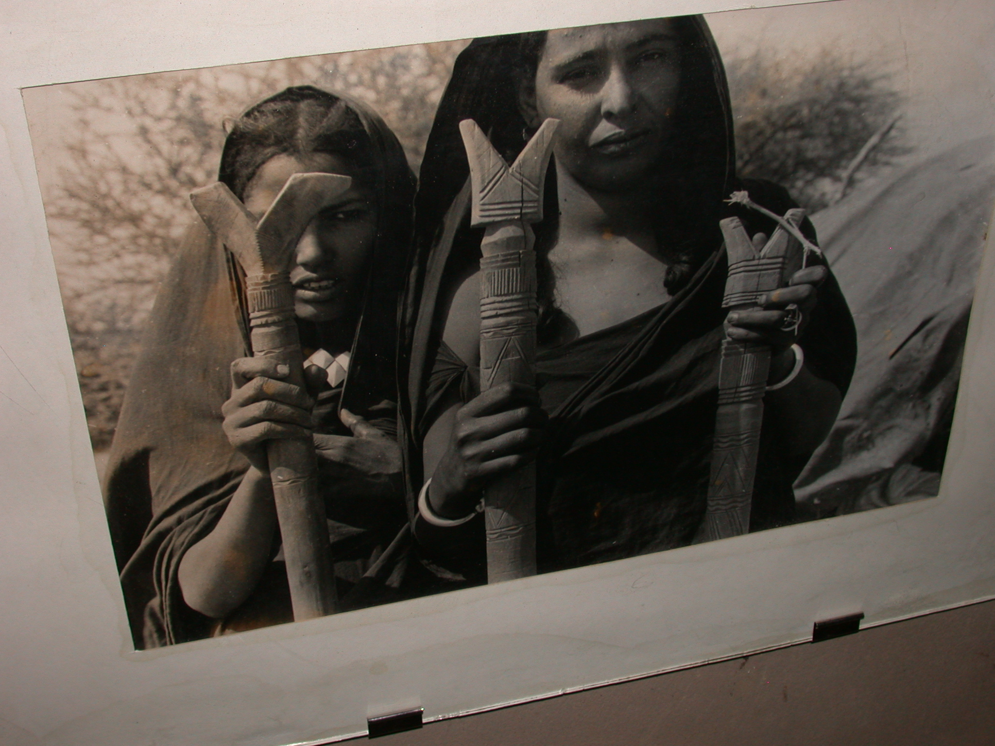 Photo of Women Holding What Appear to Be Staffs, Timbuktu Ethnological Museum, Timbuktu, Mali