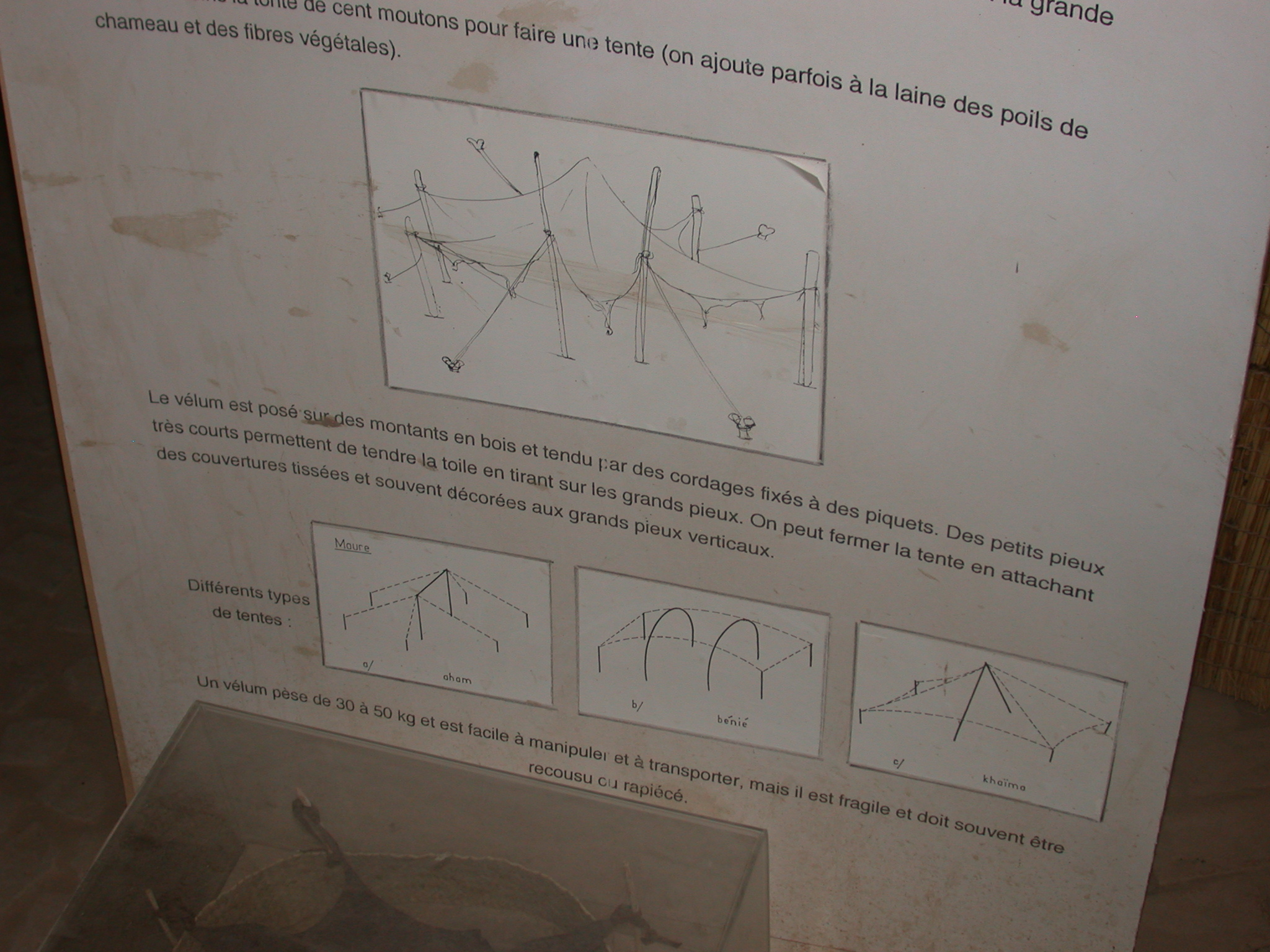 Moorish Tent Description, Part II, Timbuktu Ethnological Museum, Timbuktu, Mali