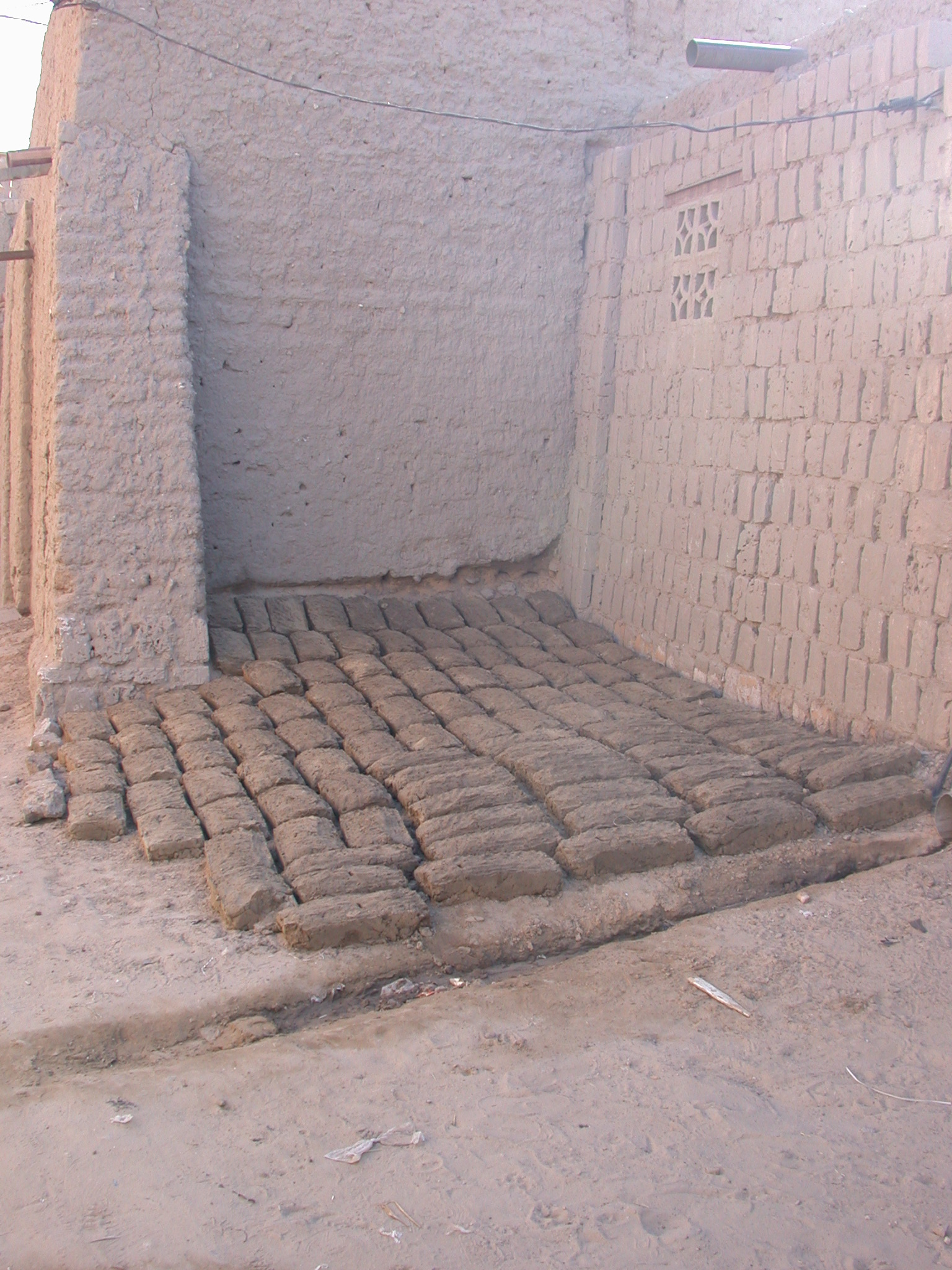 Drying Mud Bricks, Timbuktu, Mali
