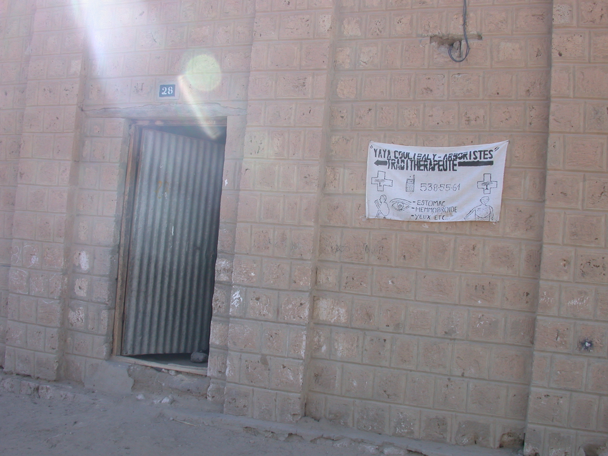 Office of Traditional Therapist Advertising Stomach, Hemorrhoid, and Eye Treatments, Timbuktu, Mali